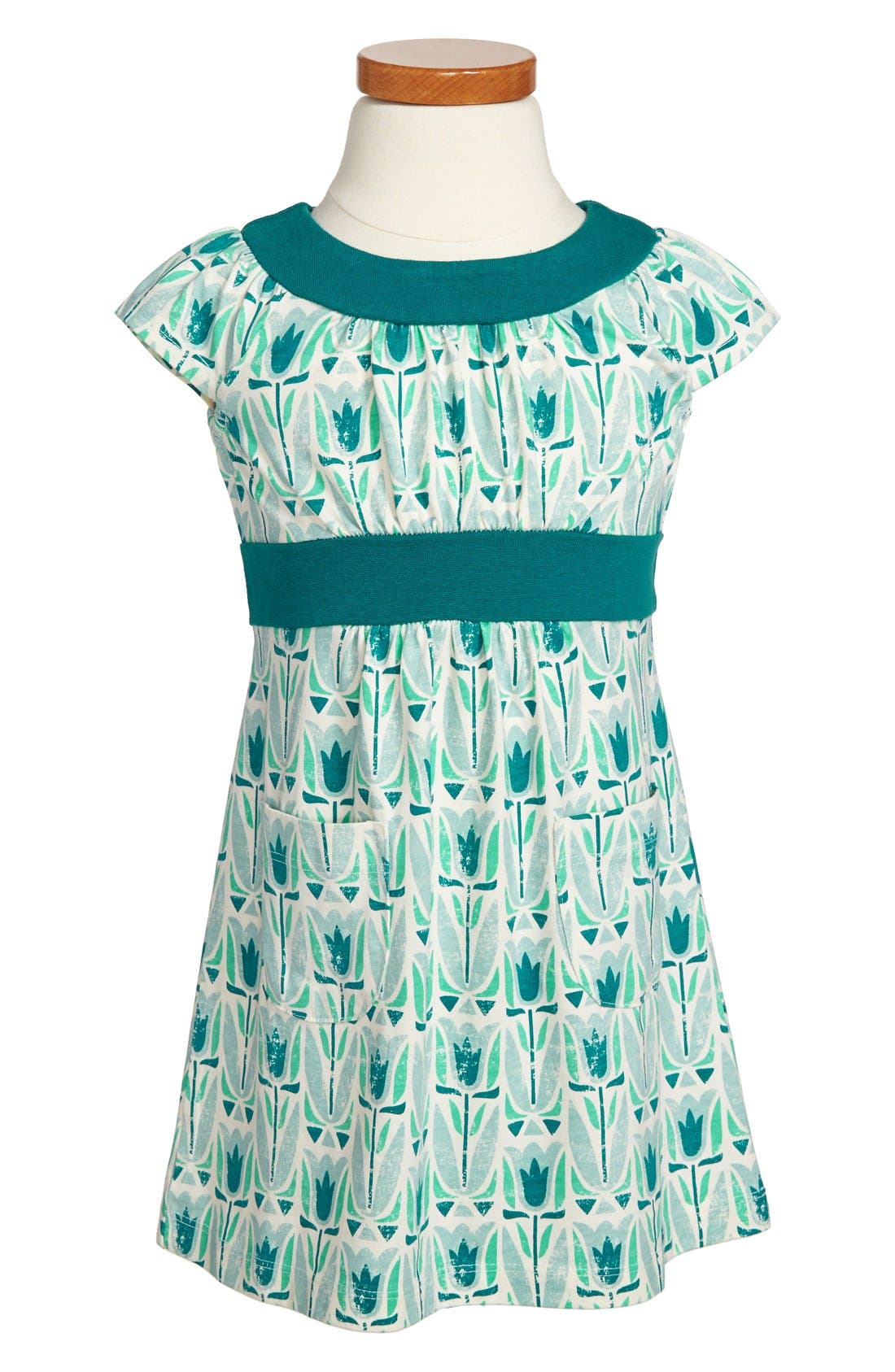 Alternate Image 1 Selected - Tea Collection 'Mod Tulip' Dress (Toddler Girls, Little Girls & Big Girls)