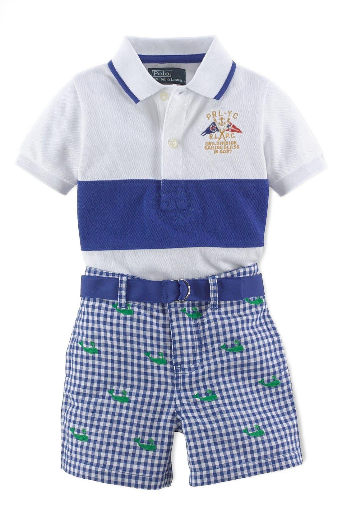 Alternate Image 1 Selected - Ralph Lauren Polo & Shorts (Baby Boys)