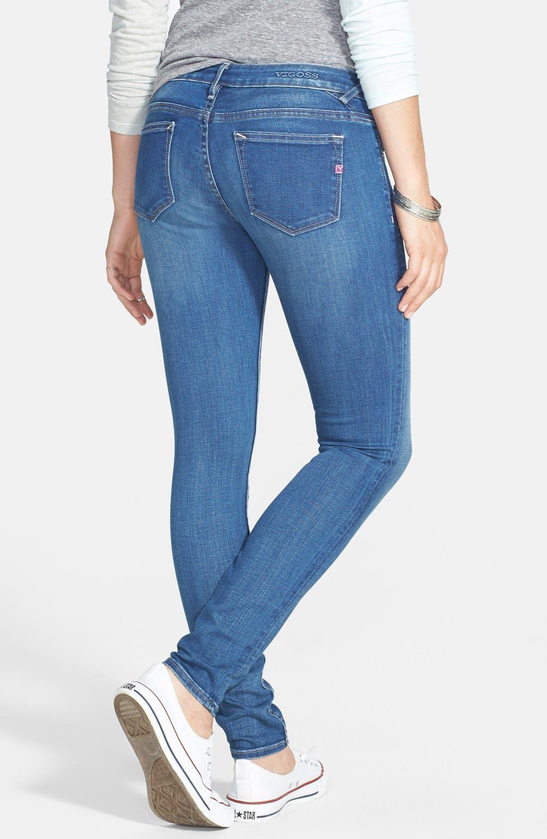 Alternate Image 2  - Vigoss Skinny Jeans (Medium Wash)