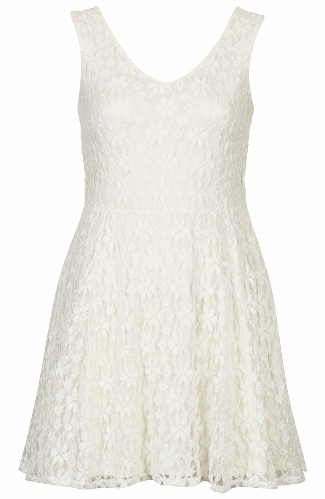 Alternate Image 3  - Topshop Daisy Lace Skater Dress
