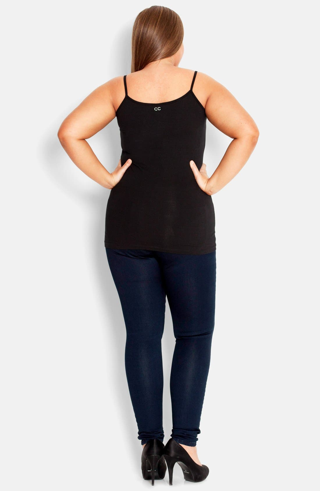 Alternate Image 2  - City Chic Ruched Front Camisole (Plus Size)