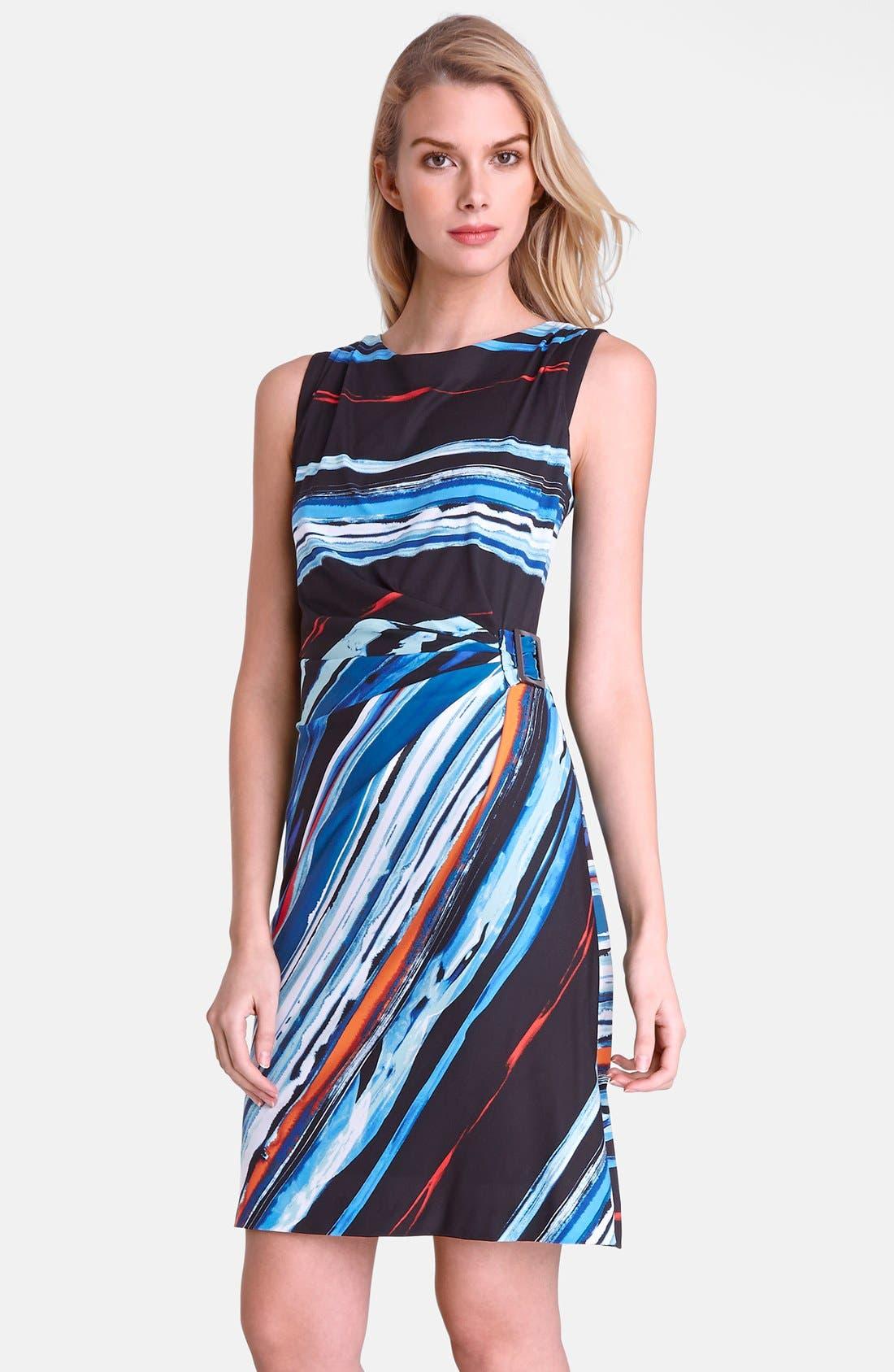 Alternate Image 1 Selected - Tahari Print Jersey Sheath Dress