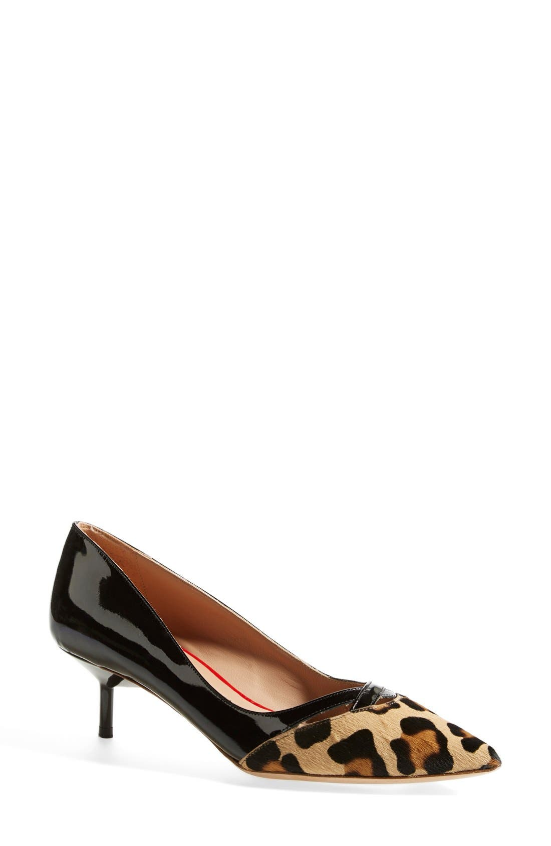 Main Image - Kurt Geiger London 'Cassidy Leo' Kitten Heel Pointy Toe Pump (Women)