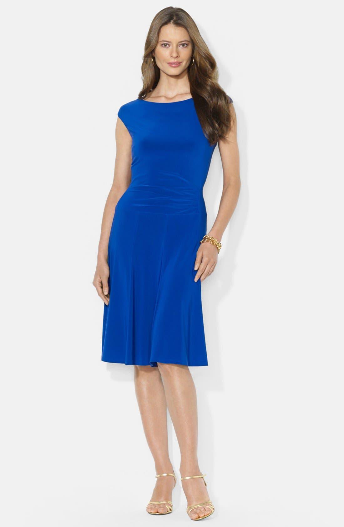 Main Image - Lauren Ralph Lauren Flared Jersey Dress