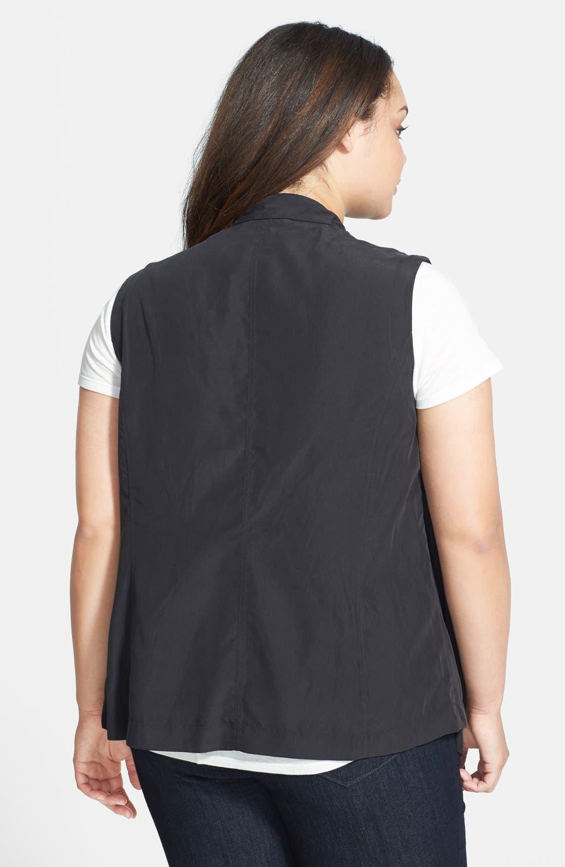 Alternate Image 2  - DKNY Jeans Drape Front Vest (Plus Size)