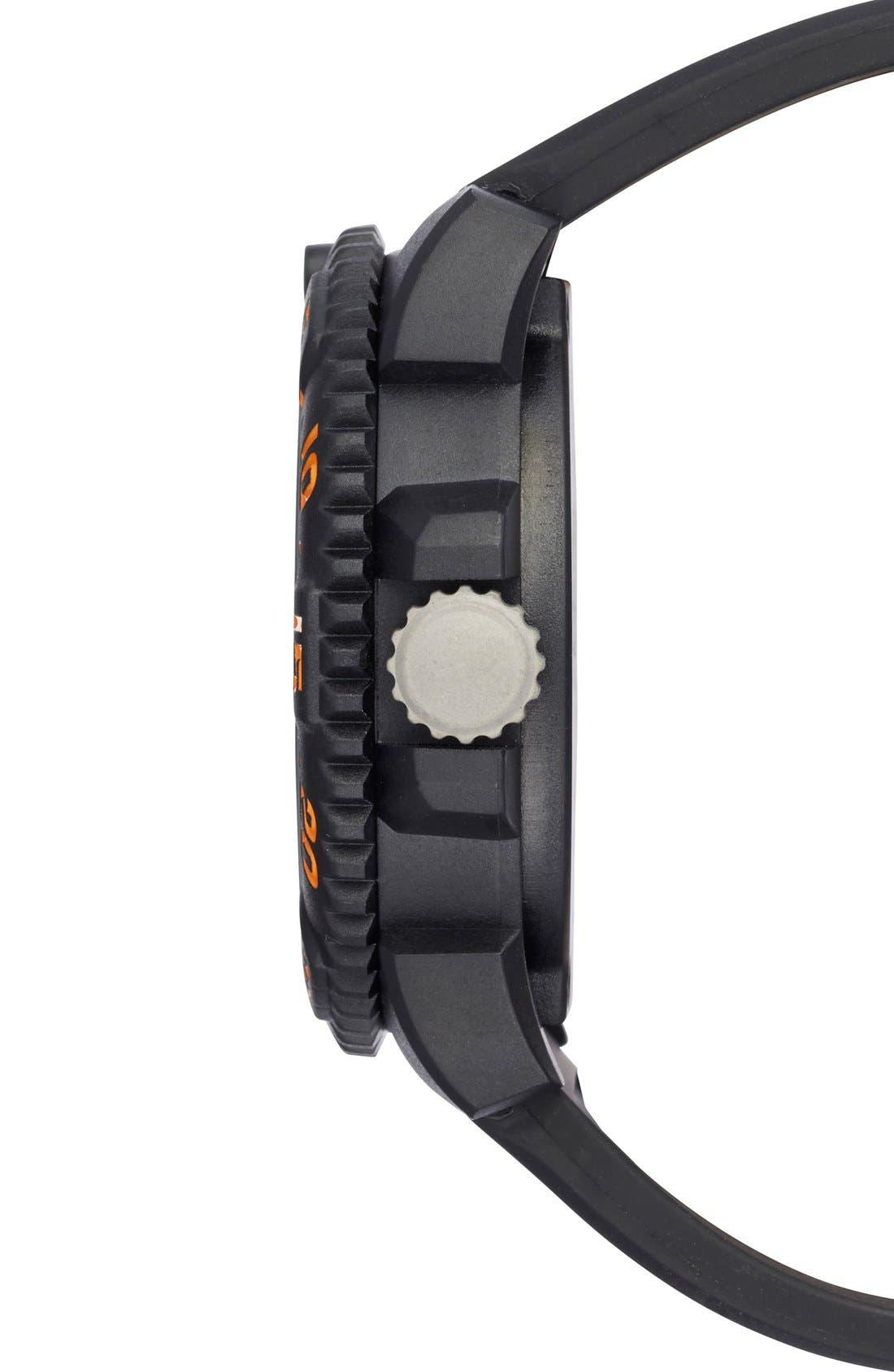 Alternate Image 3  - Luminox 'Sea - Navy SEAL Colormark' Silicone Strap Watch, 43mm