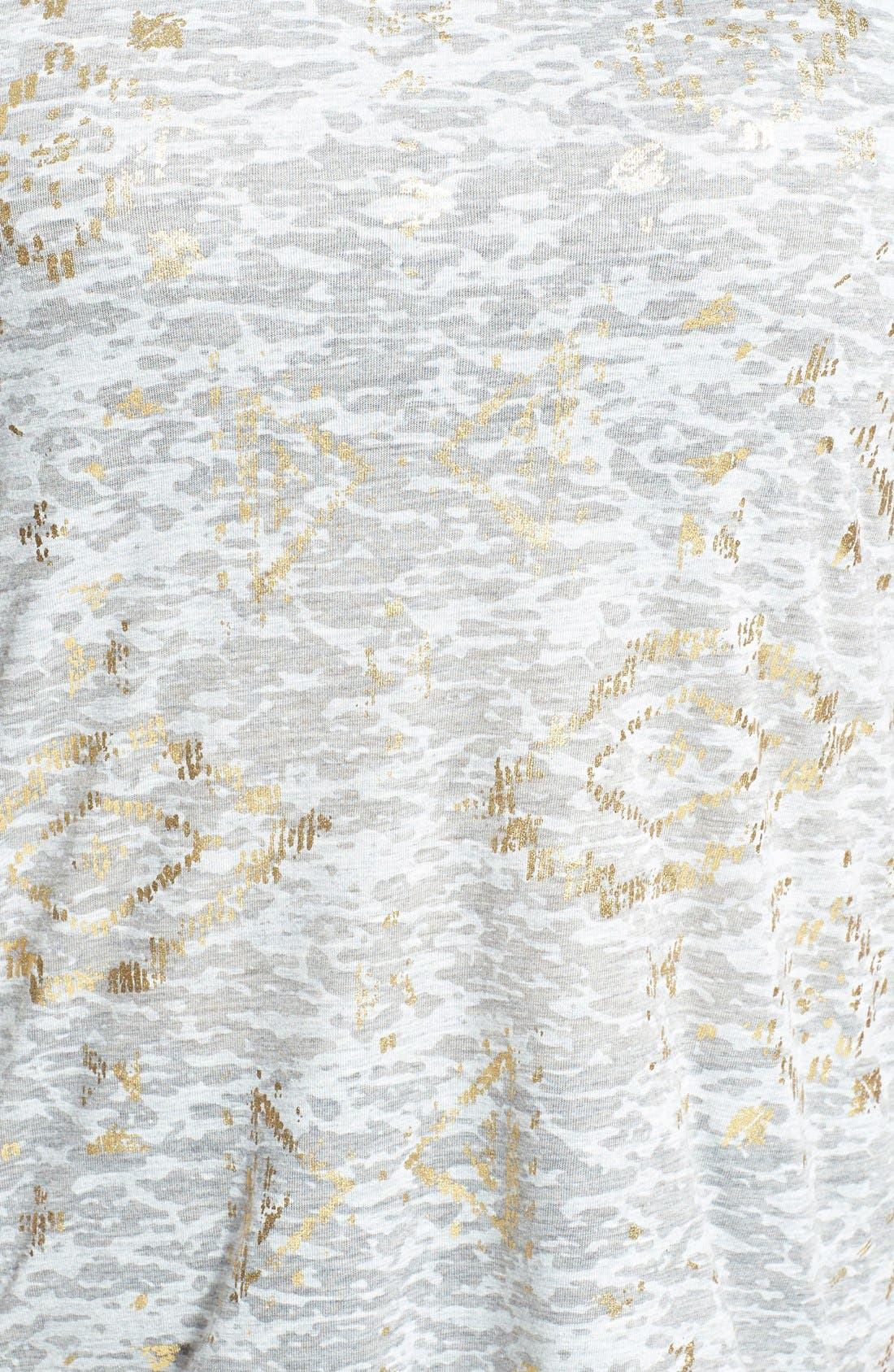 Alternate Image 3  - Dantelle Foil Print Burnout Tee (Plus Size)