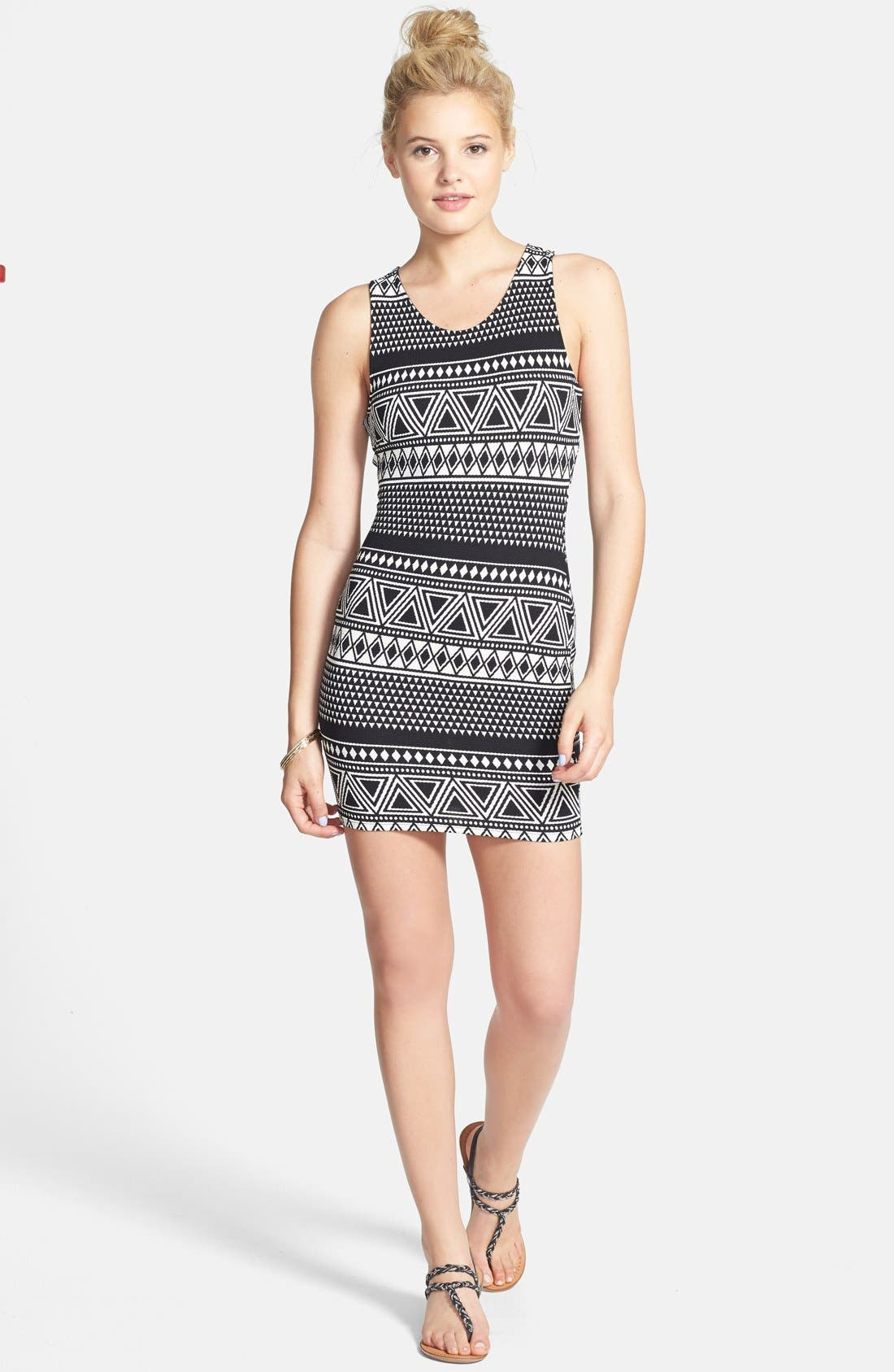 Alternate Image 3  - Elodie Cutout Back Body-Con Dress (Juniors)