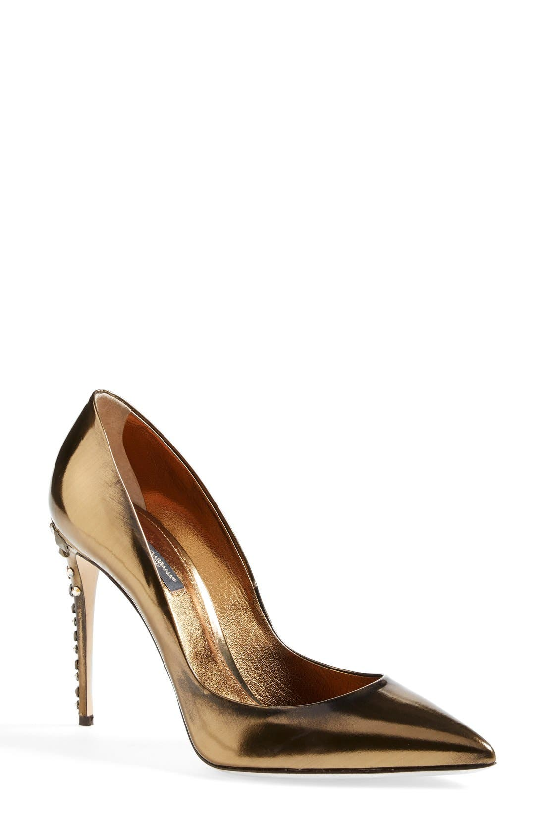 Alternate Image 1 Selected - Dolce&Gabbana Studded Heel Pump (Women)