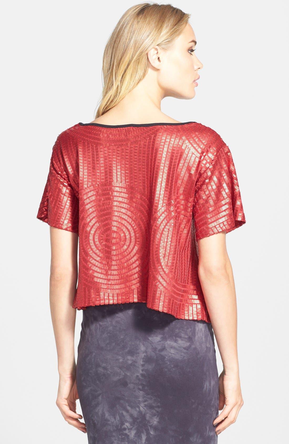 Alternate Image 2  - Leith Sequin Crop Top