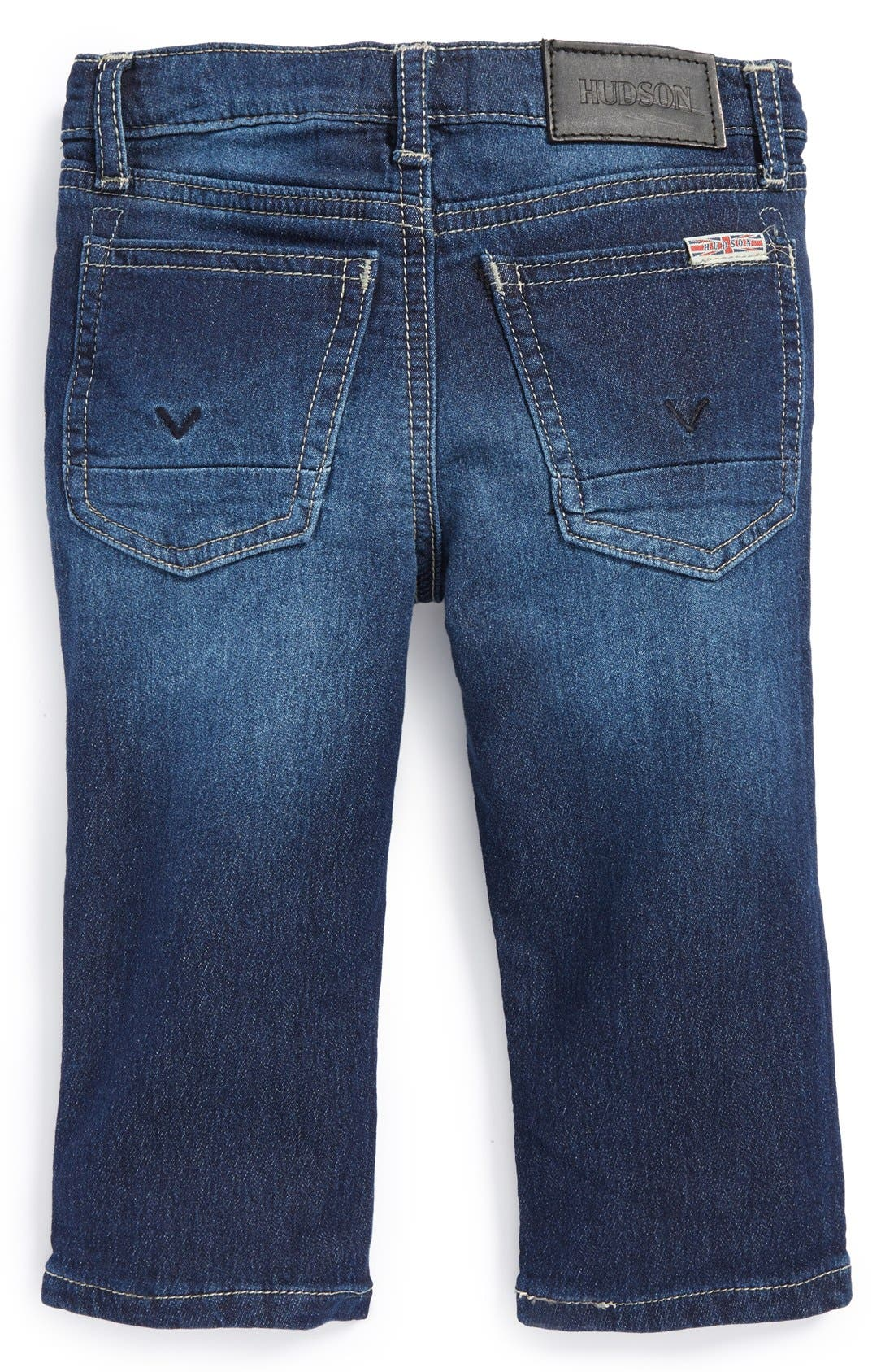 Alternate Image 2  - Hudson Kids 'Parker' French Terry Skinny Jeans (Baby Boys) (Online Only)