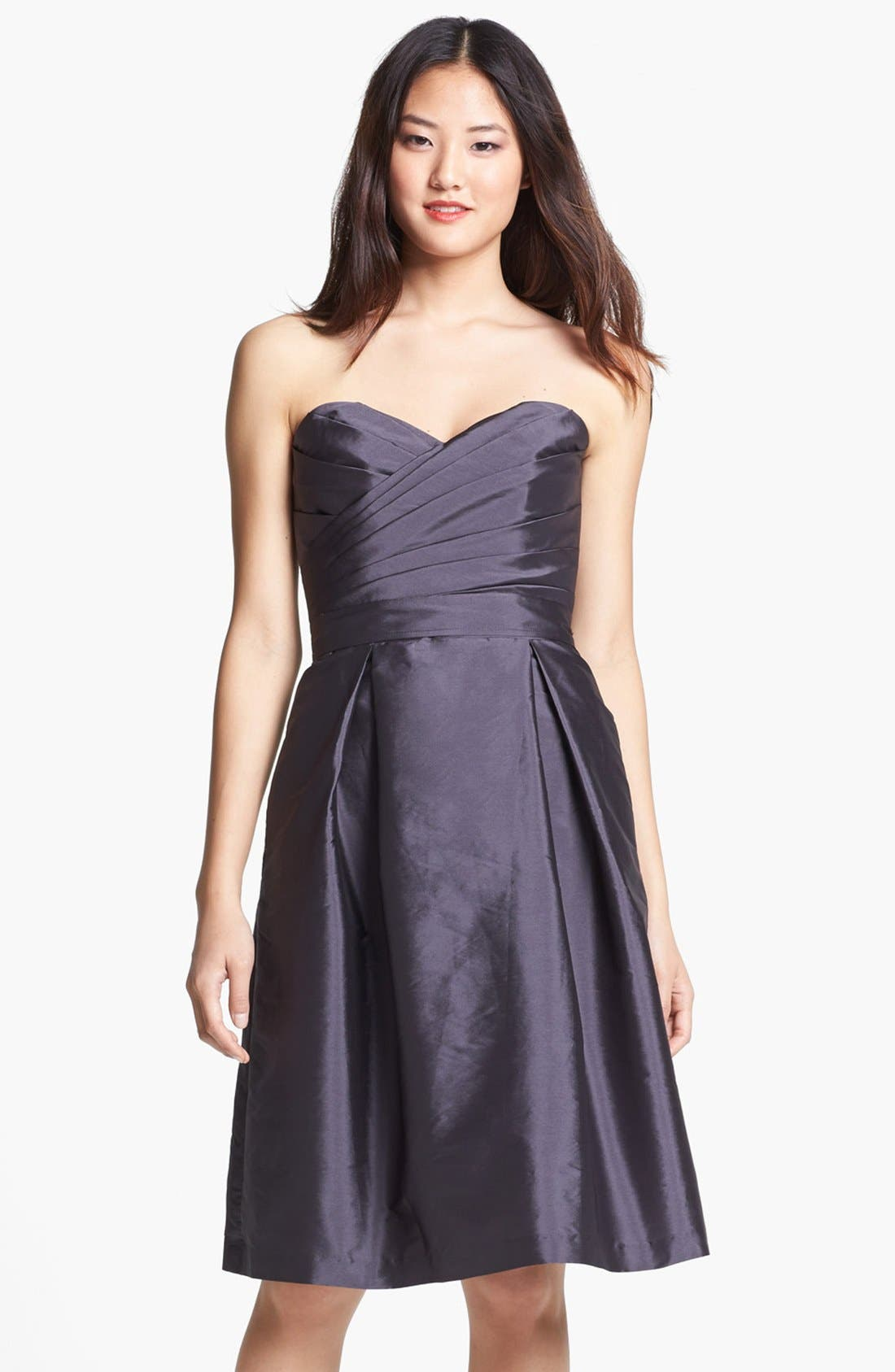 Alternate Image 1 Selected - Alfred Sung Satin Fit & Flare Dress