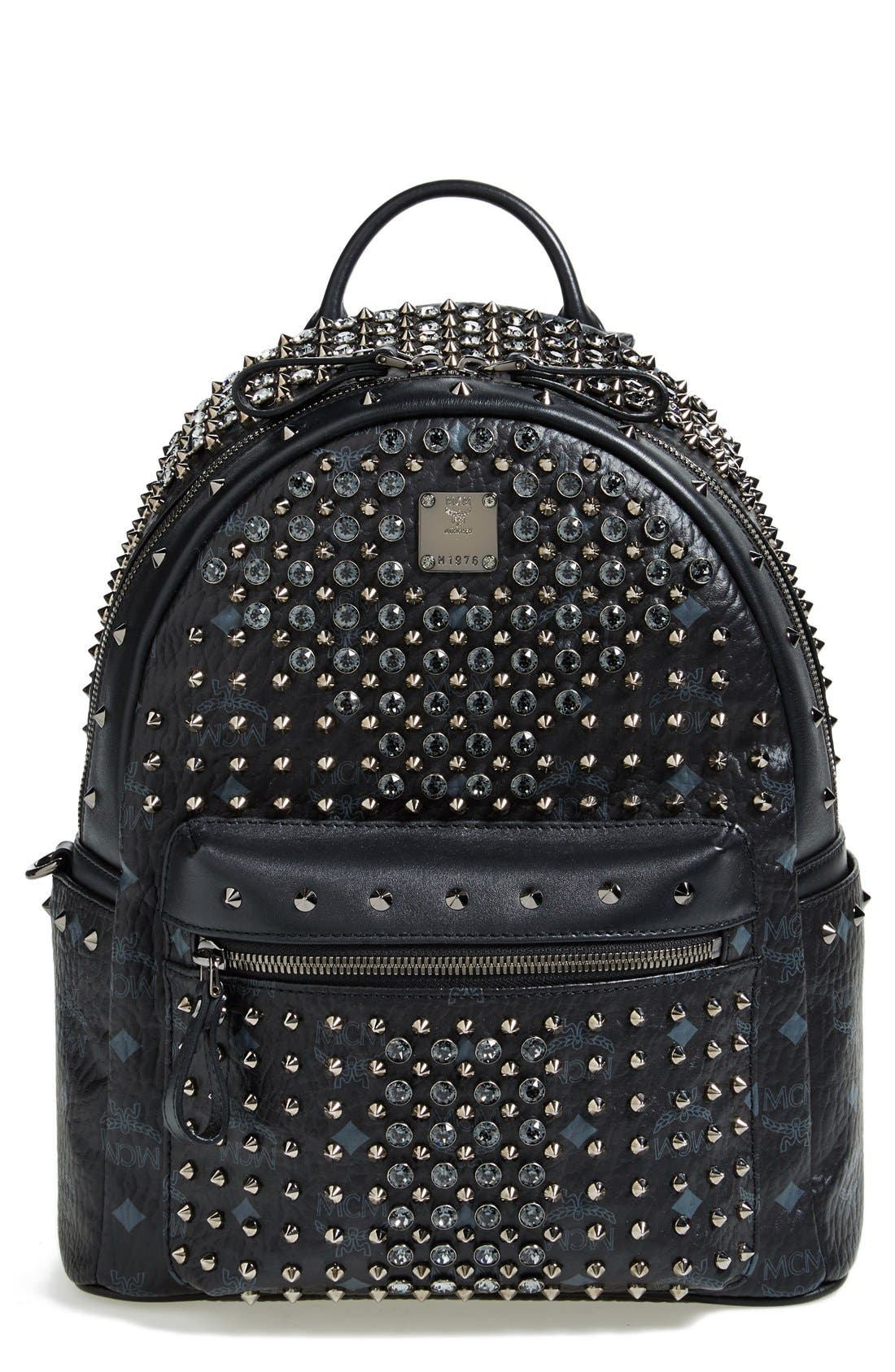 Alternate Image 1 Selected - MCM 'Studded - Small' Coated Canvas Backpack