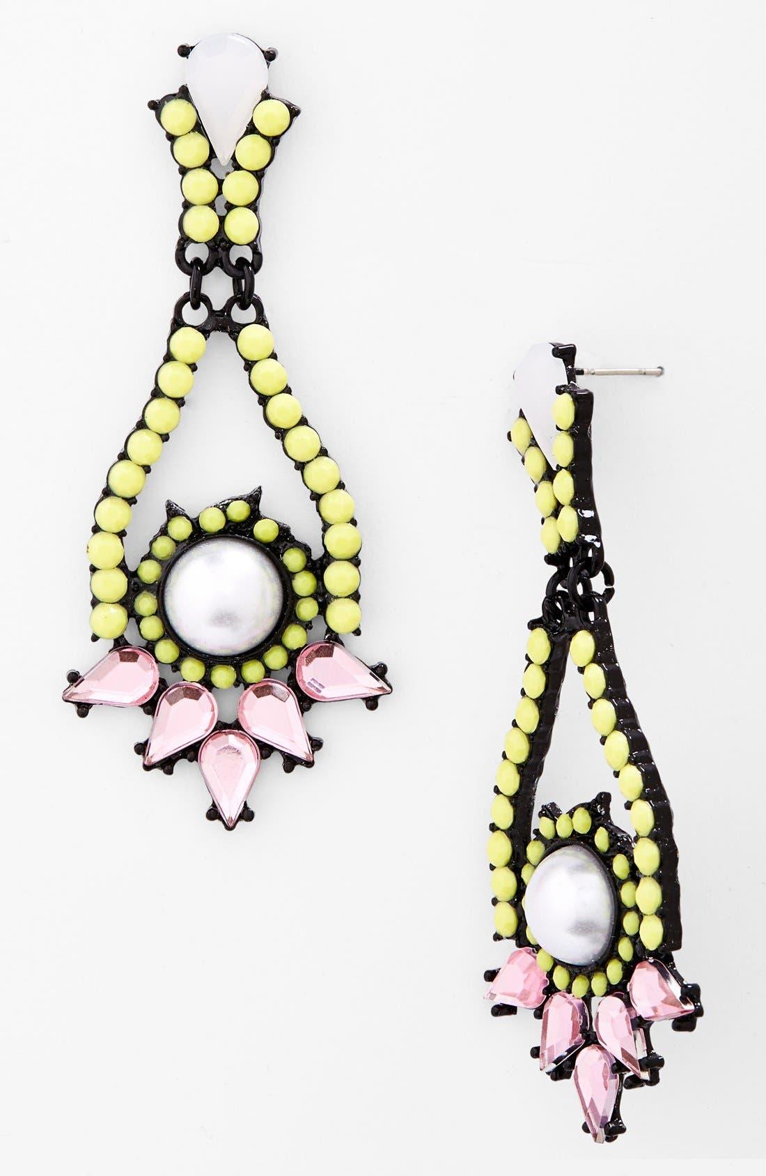 Alternate Image 1 Selected - Cara Ultra Girly Pendant Earrings