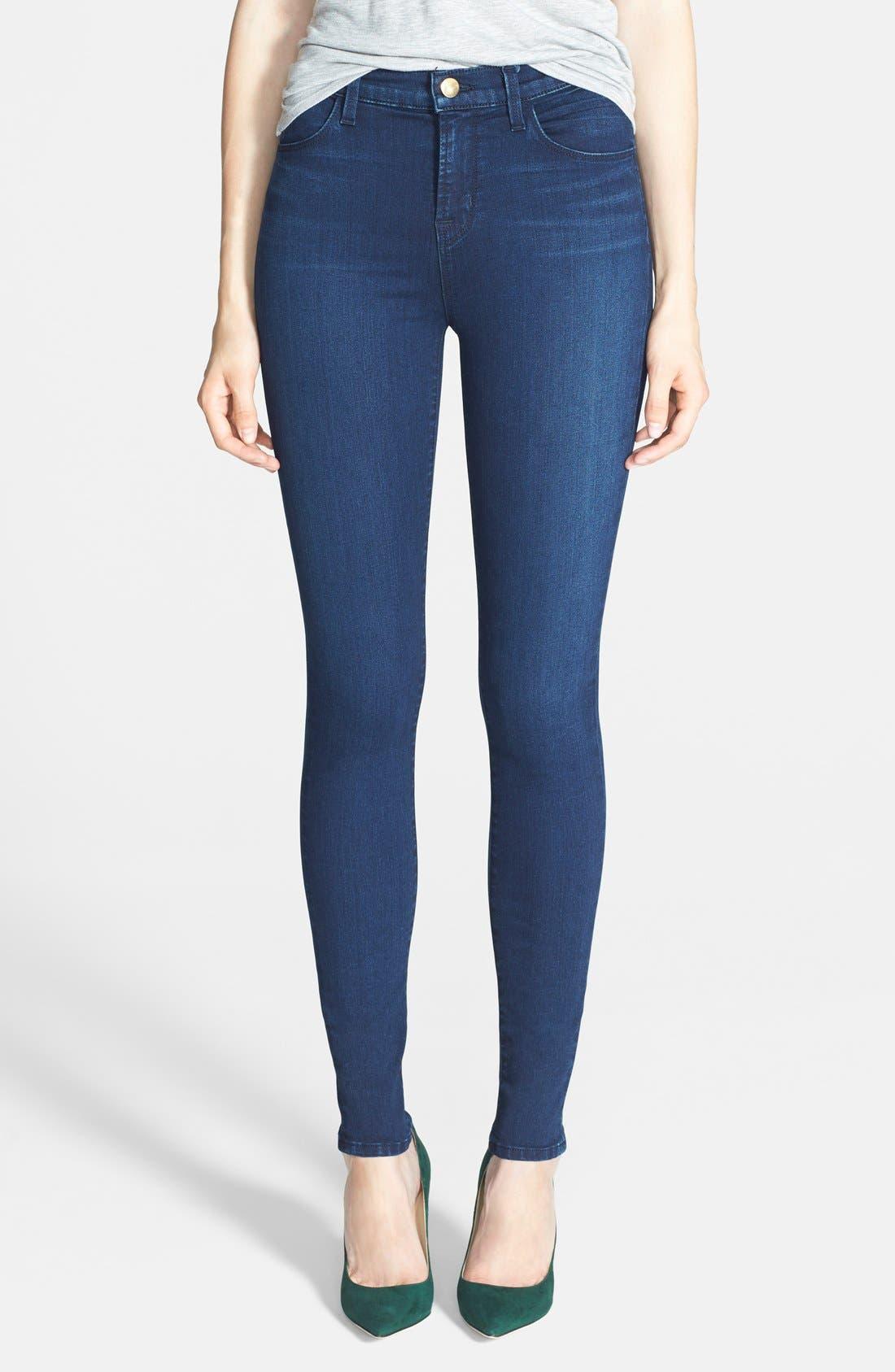 Alternate Image 1 Selected - J Brand 'Maria' High Rise Skinny Jeans (Maria Destiny)