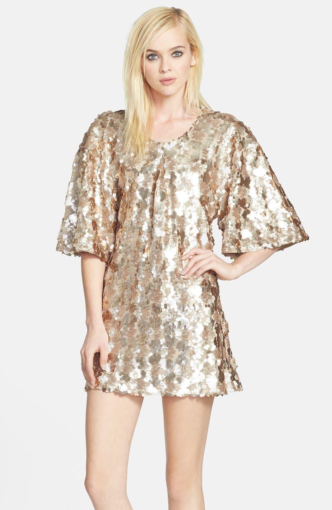 Main Image - Dress the Population 'Brooklyn' Embellished Shift Dress
