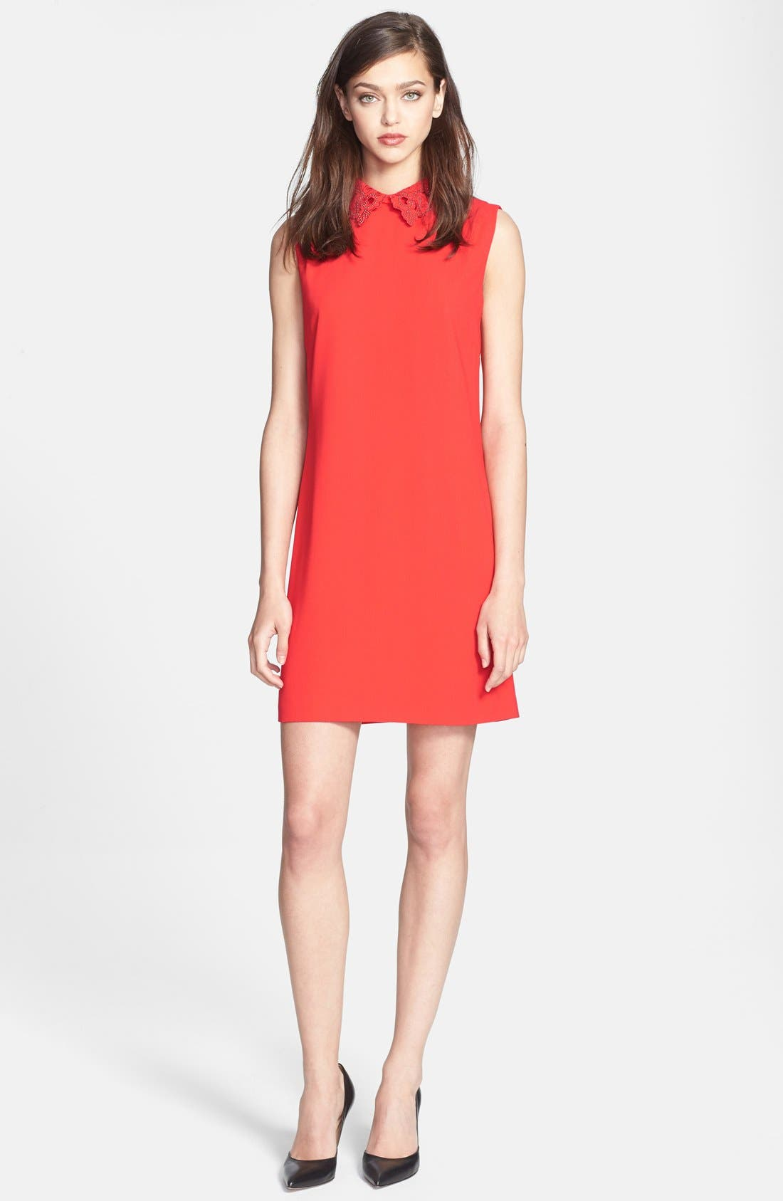 Alternate Image 1 Selected - Ted Baker London Embellished Woven Tunic Dress