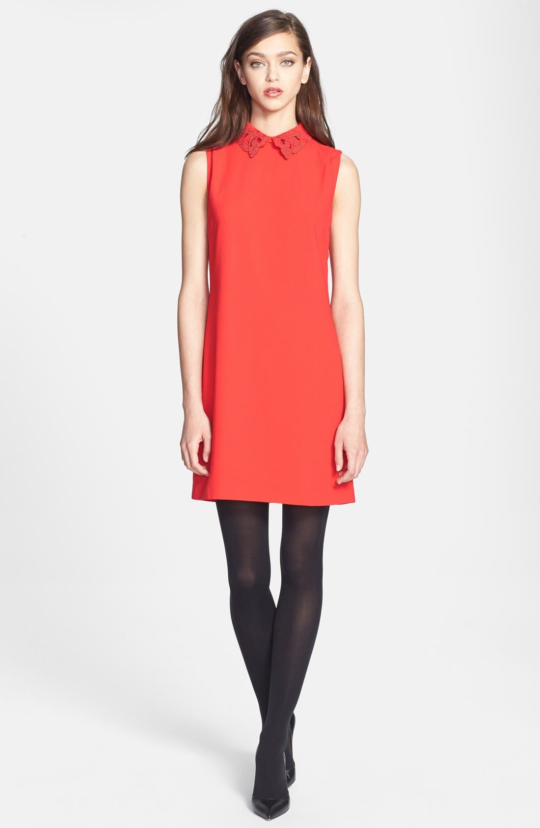 Alternate Image 4  - Ted Baker London Embellished Woven Tunic Dress