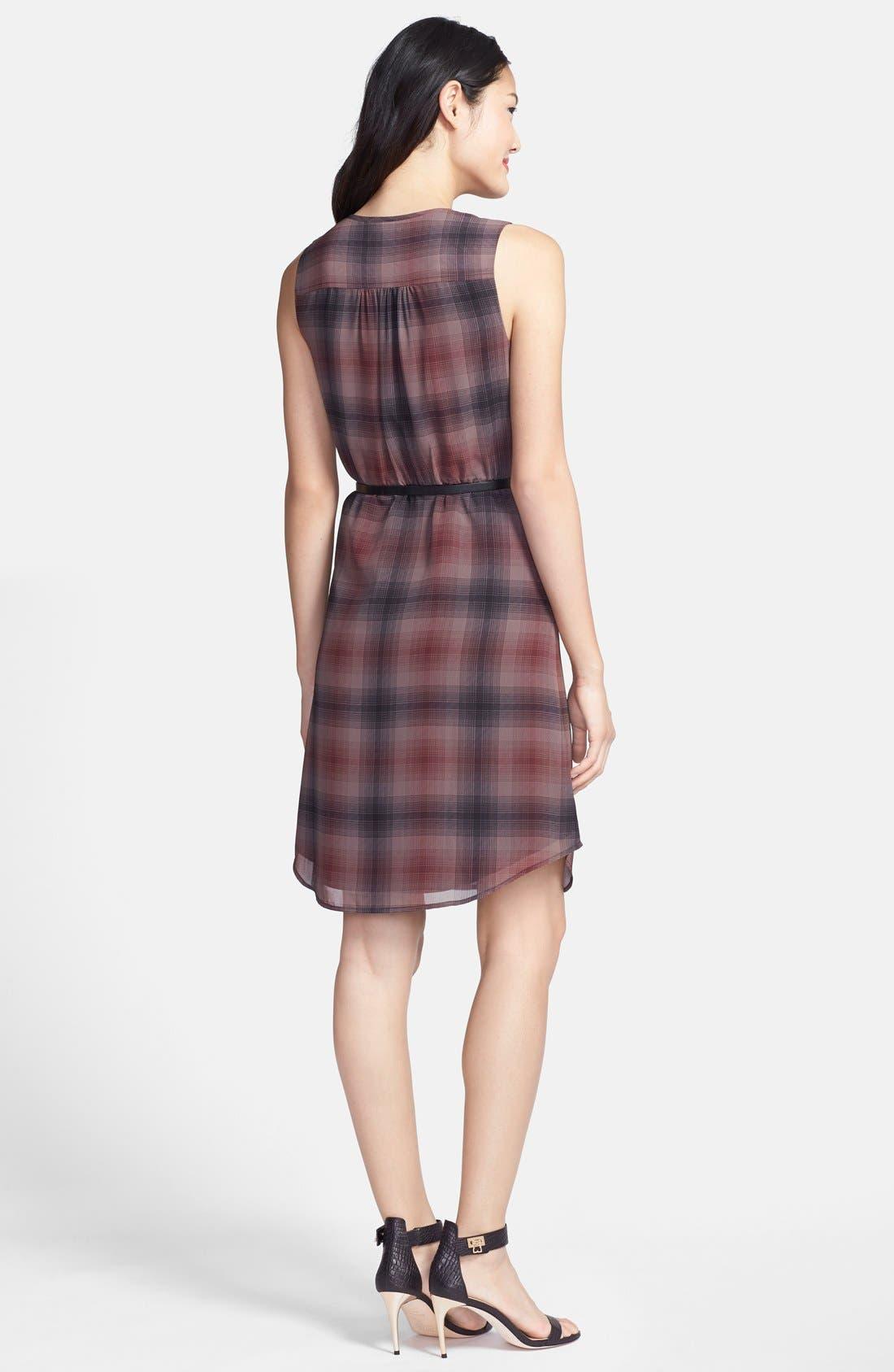 Alternate Image 2  - Halogen® Belted Pleat Front Dress (Regular & Petite)