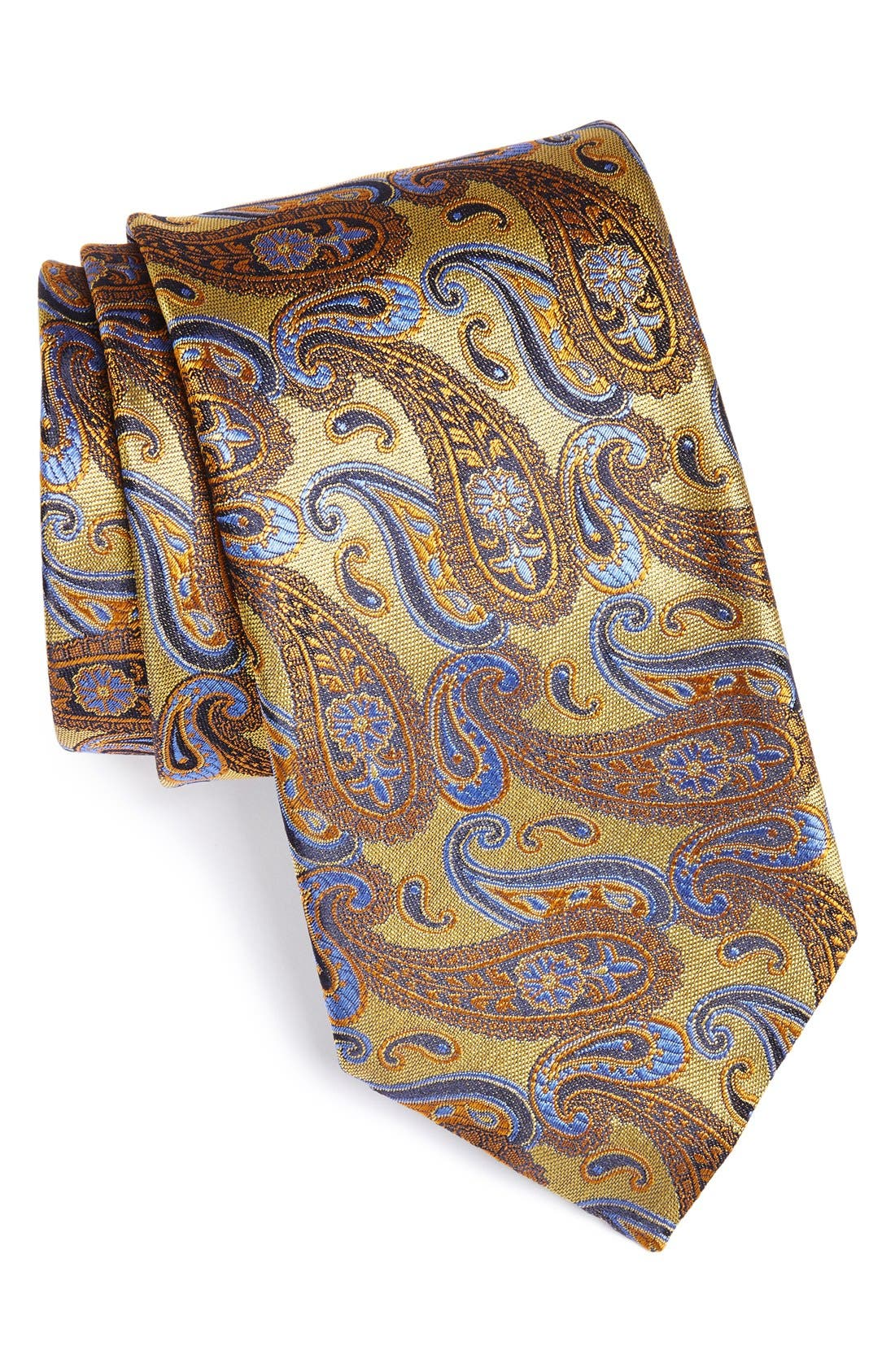 Alternate Image 1 Selected - Canali Paisley Woven Silk Tie