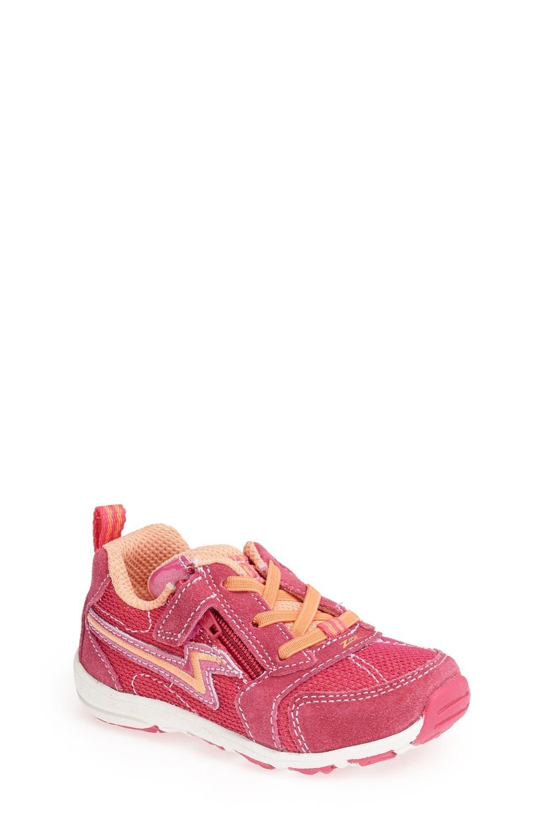 Alternate Image 1 Selected - Stride Rite 'Zips' Sneaker (Walker & Toddler)