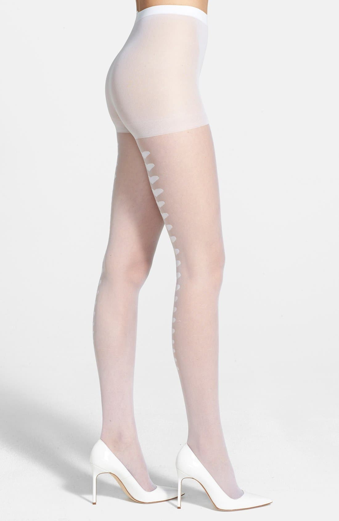 Alternate Image 2  - Betsey Johnson Heart Back Seam Sheer Tights