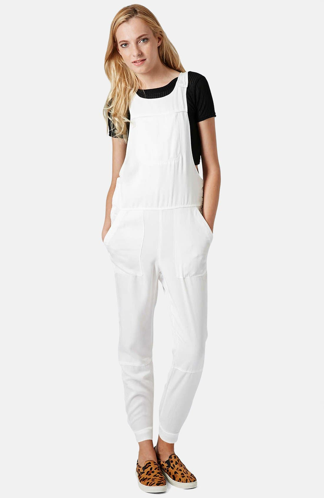 Main Image - Topshop Pocket Front Overalls