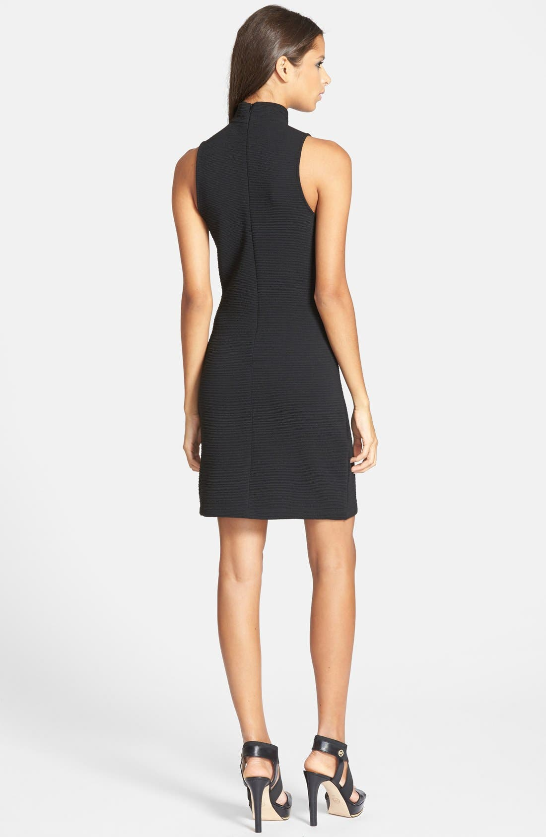 Alternate Image 2  - BB Dakota 'Oleta' Textured Turtleneck Body-Con Dress