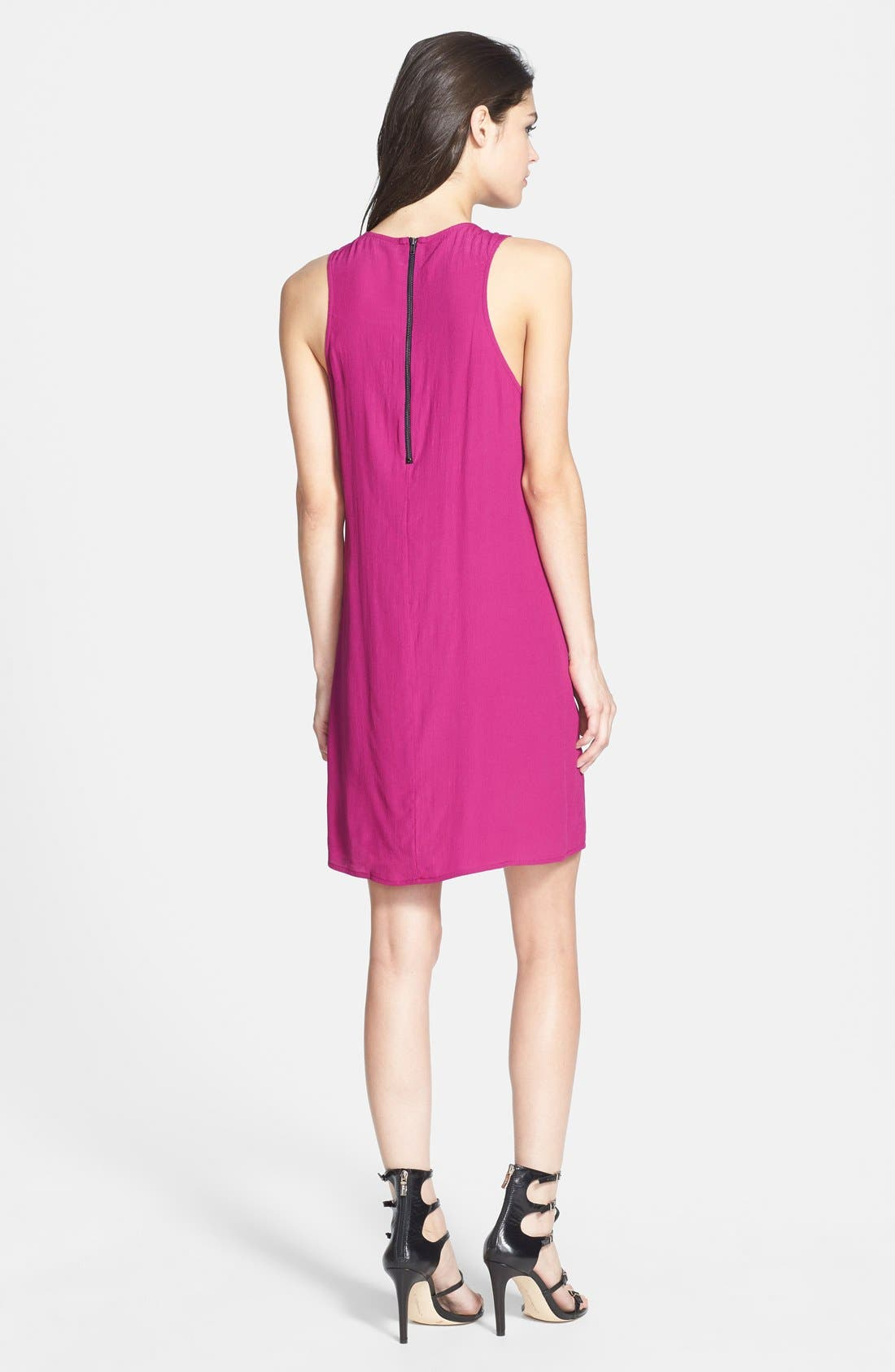 Alternate Image 2  - Wayf Sleeveless Crepe Shift Dress