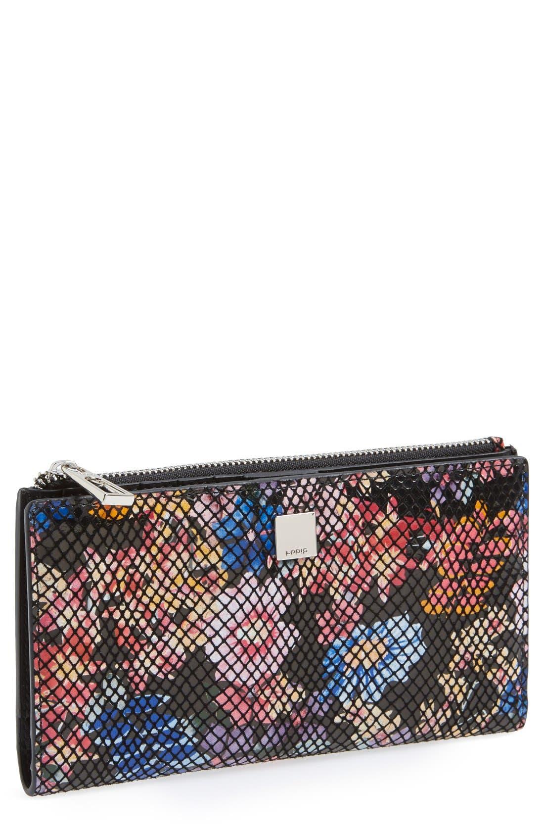 Main Image - Lodis 'Tess' Snake Embossed Wallet