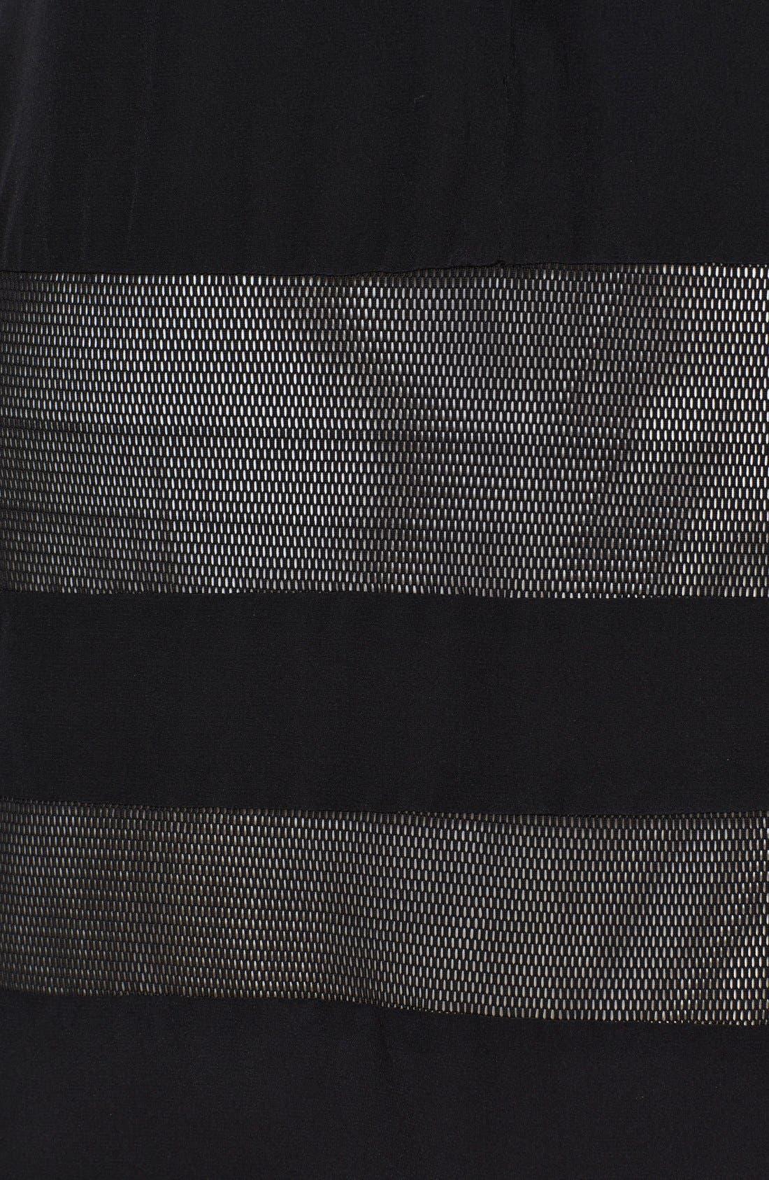 Alternate Image 3  - Jay Godfrey 'Emmerson' Mesh Stripe Jersey Dress