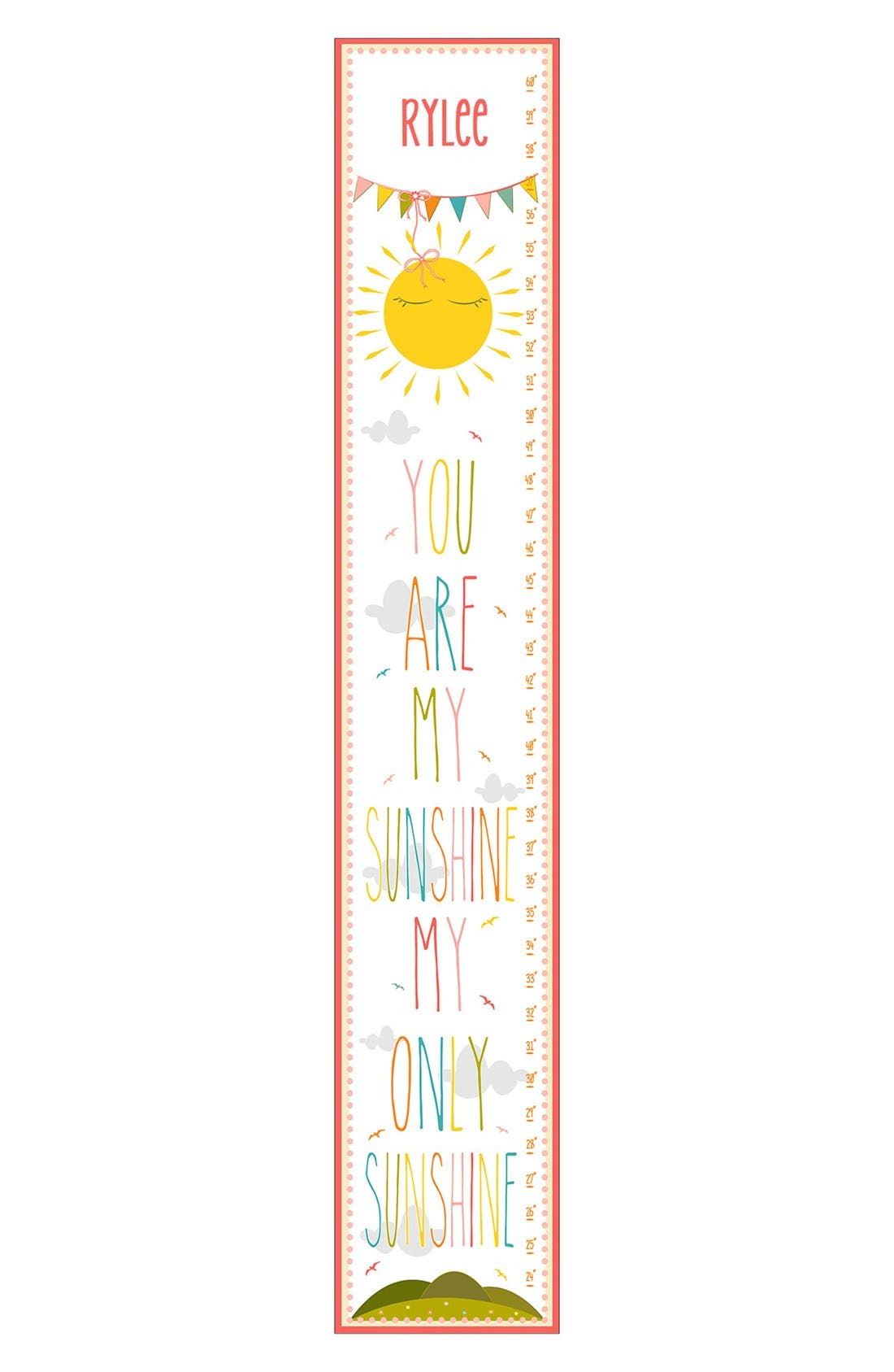 Main Image - Stupell 'Sunshine' Personalized Growth Chart