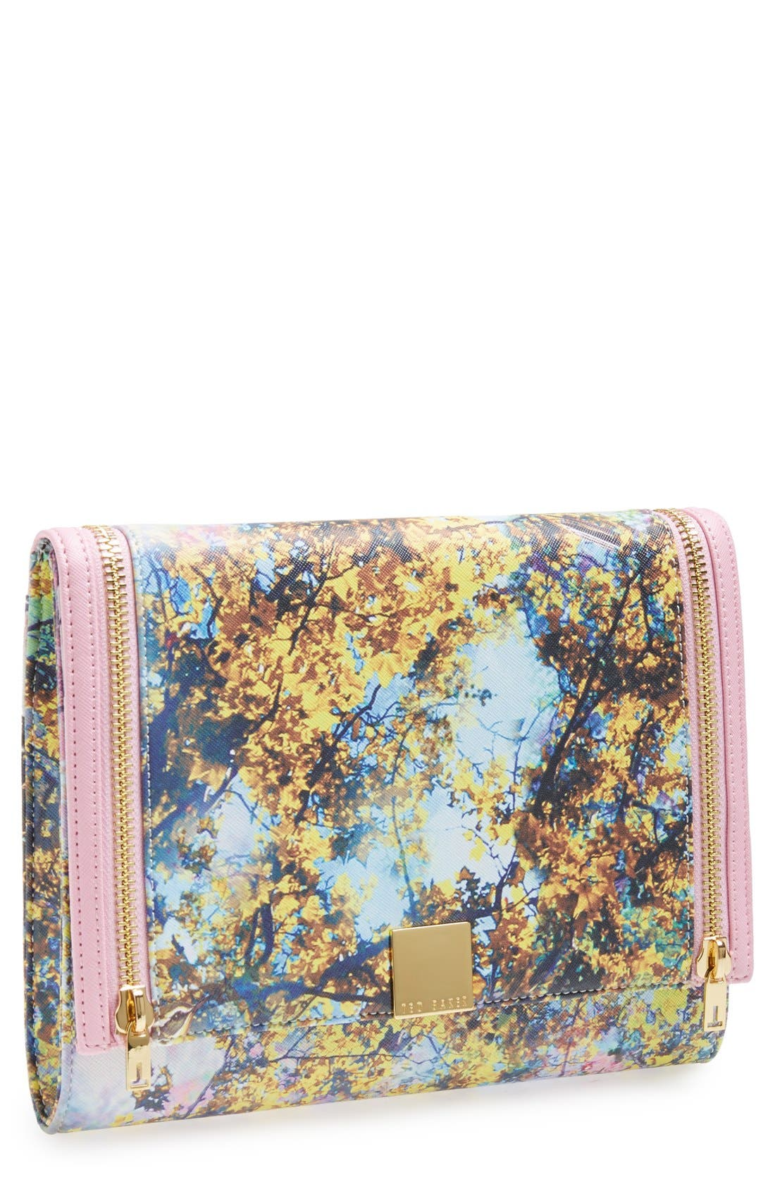 Main Image - Ted Baker London 'Pretty Trees' Print Flap Clutch
