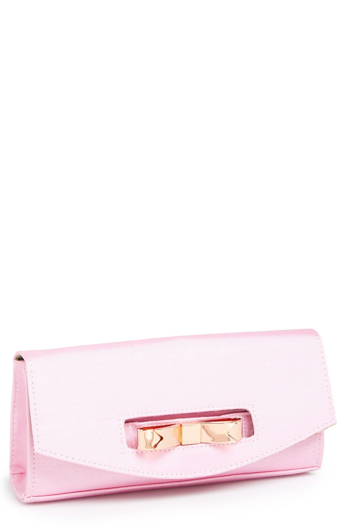 Main Image - Ted Baker London 'Bow' Flap Clutch