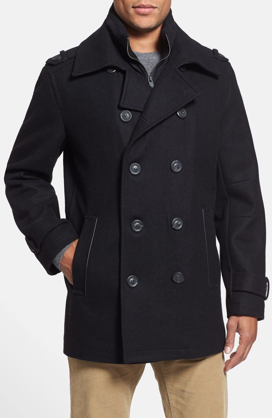 Alternate Image 1 Selected - Marc New York by Andrew Marc 'Kerr' Wool Blend Peacoat