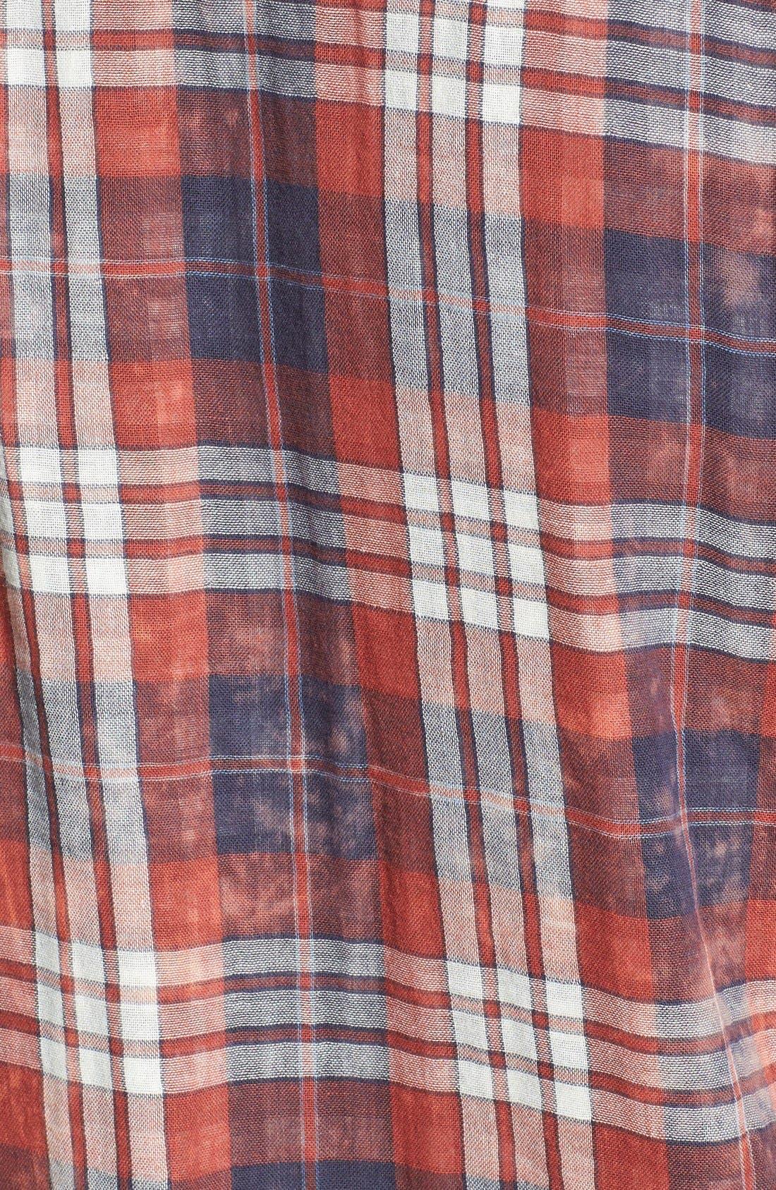 Alternate Image 3  - Jeremiah 'Ohio' Short Sleeve Reversible Plaid & Gingham Shirt