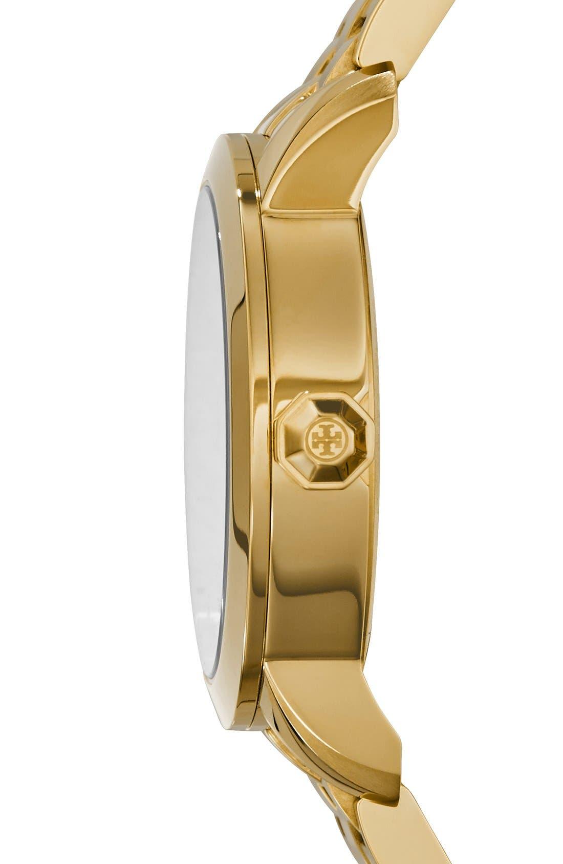 Alternate Image 4  - Tory Burch 'Tory' Large Round Bracelet Watch, 37mm