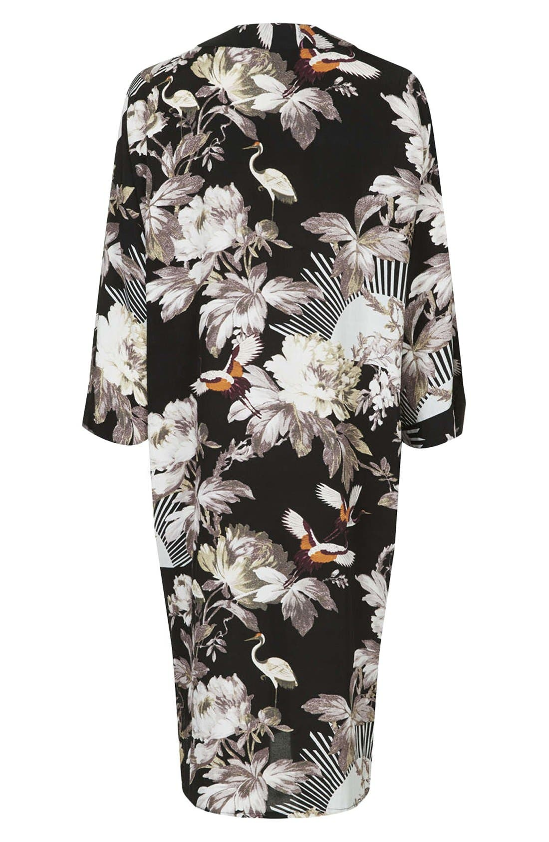 Alternate Image 2  - Topshop Fantasy Print Longline Maternity Kimono