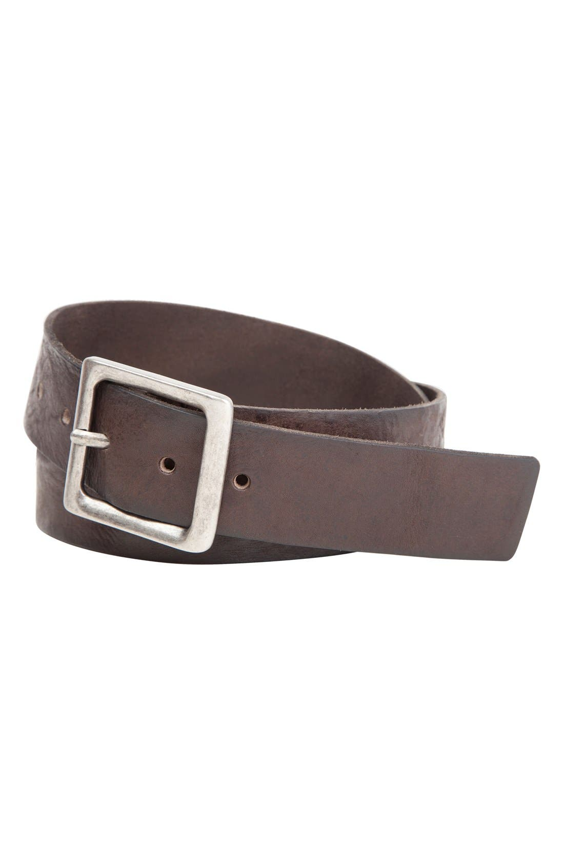 Alternate Image 1 Selected - Trafalgar 'Simsbury' Leather Belt