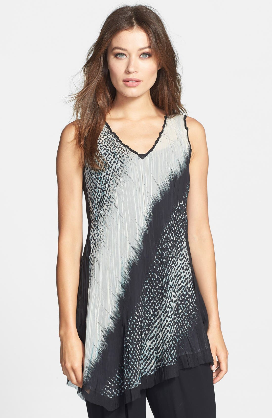 Main Image - Komarov Print Sleeveless V-Neck Tunic