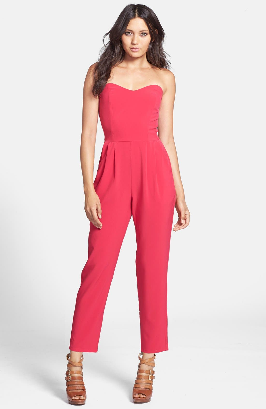 Alternate Image 1 Selected - Rules of Etiquette 'Bow Wrap' Jumpsuit