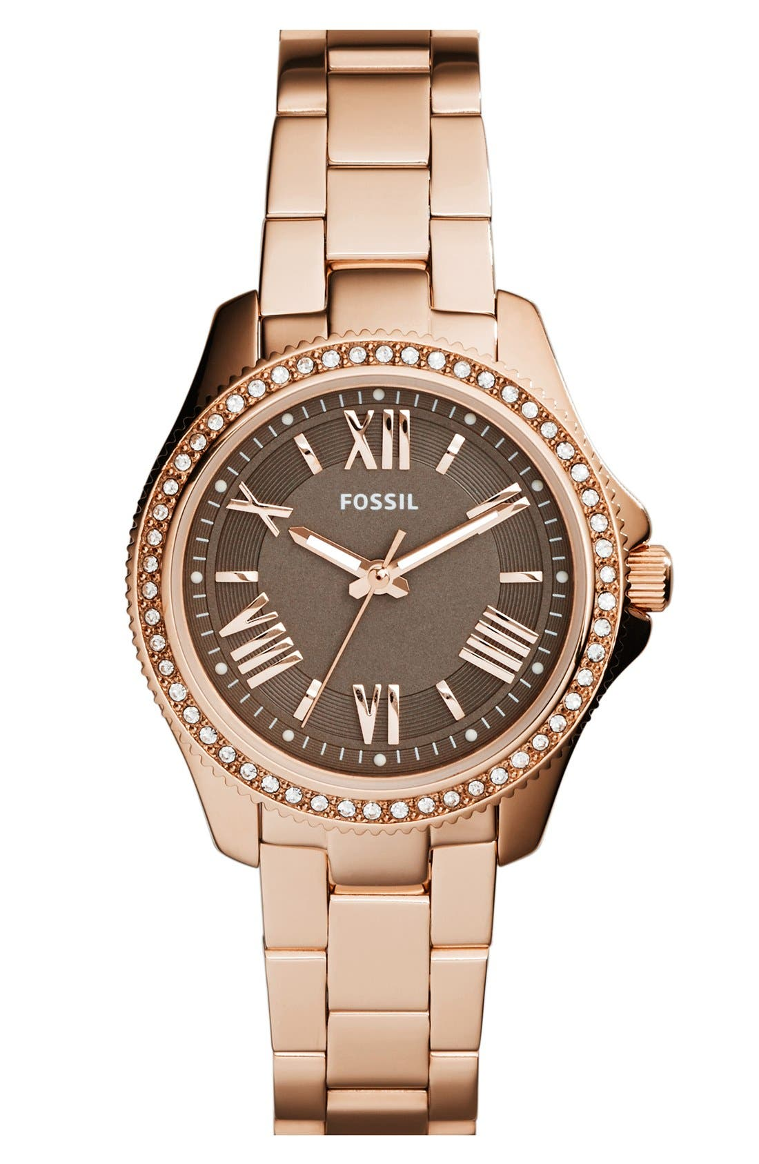 Alternate Image 1 Selected - Fossil 'Cecile' Top Ring Bracelet Watch, 29mm