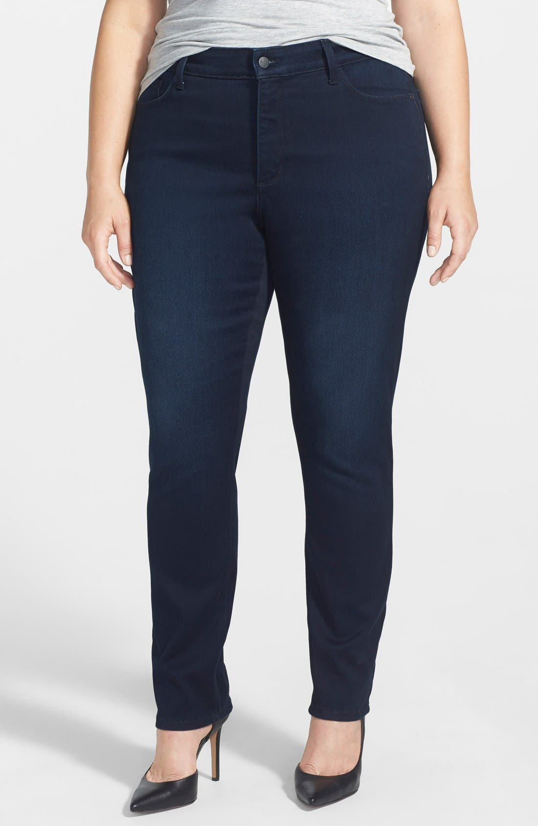 Alternate Image 1 Selected - NYDJ 'Jade' Stretch Skinny Jeans (Norwell) (Plus Size)