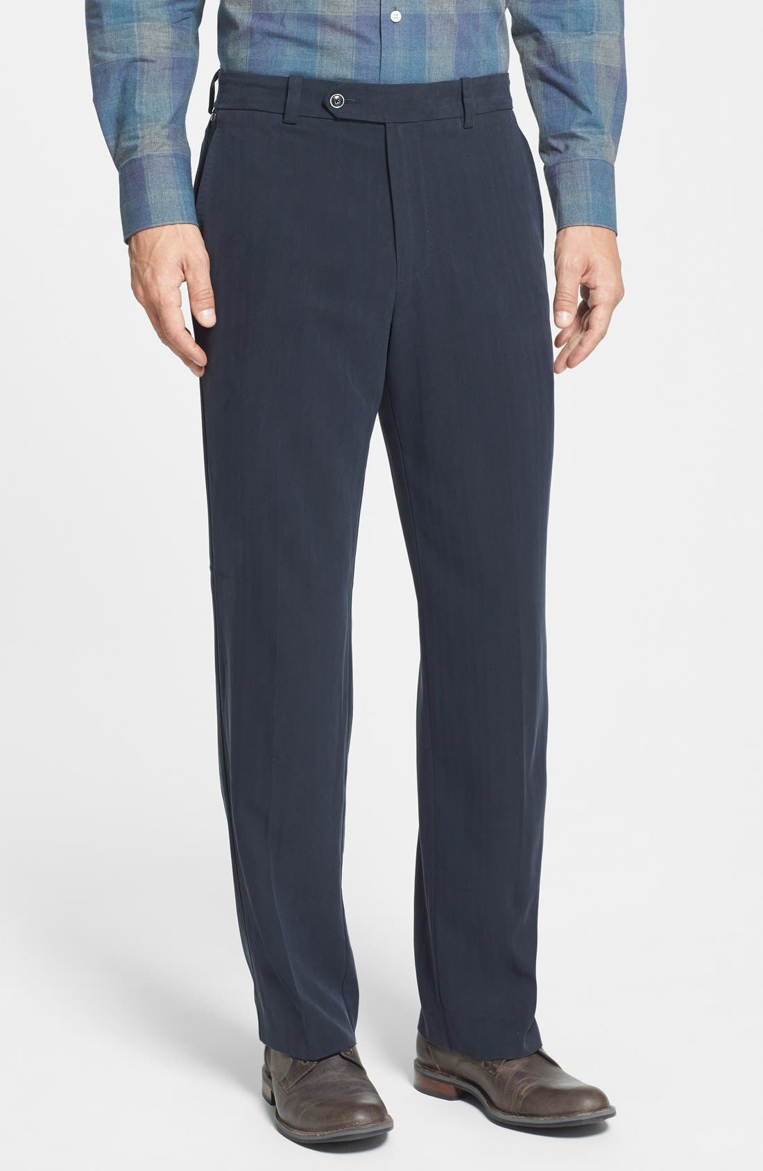 Main Image - Tommy Bahama 'Flying Fishbone' Flat Front Pants