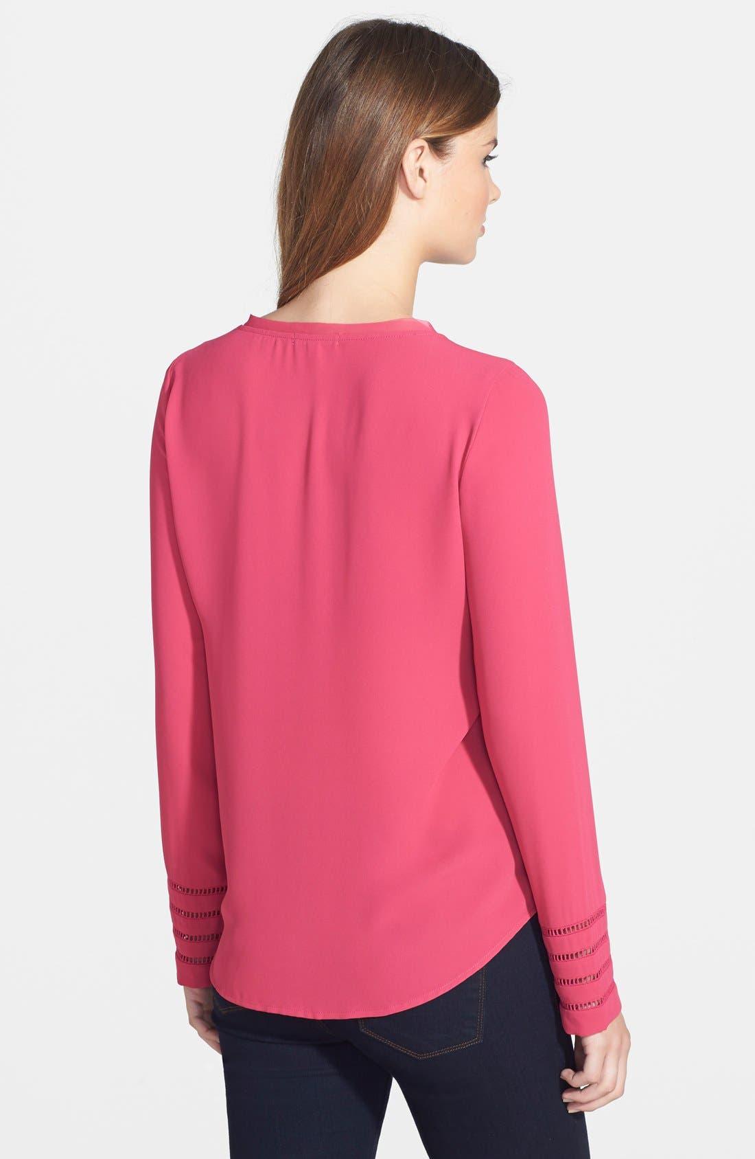 Alternate Image 2  - Pleione Embroidered Sleeve Blouse
