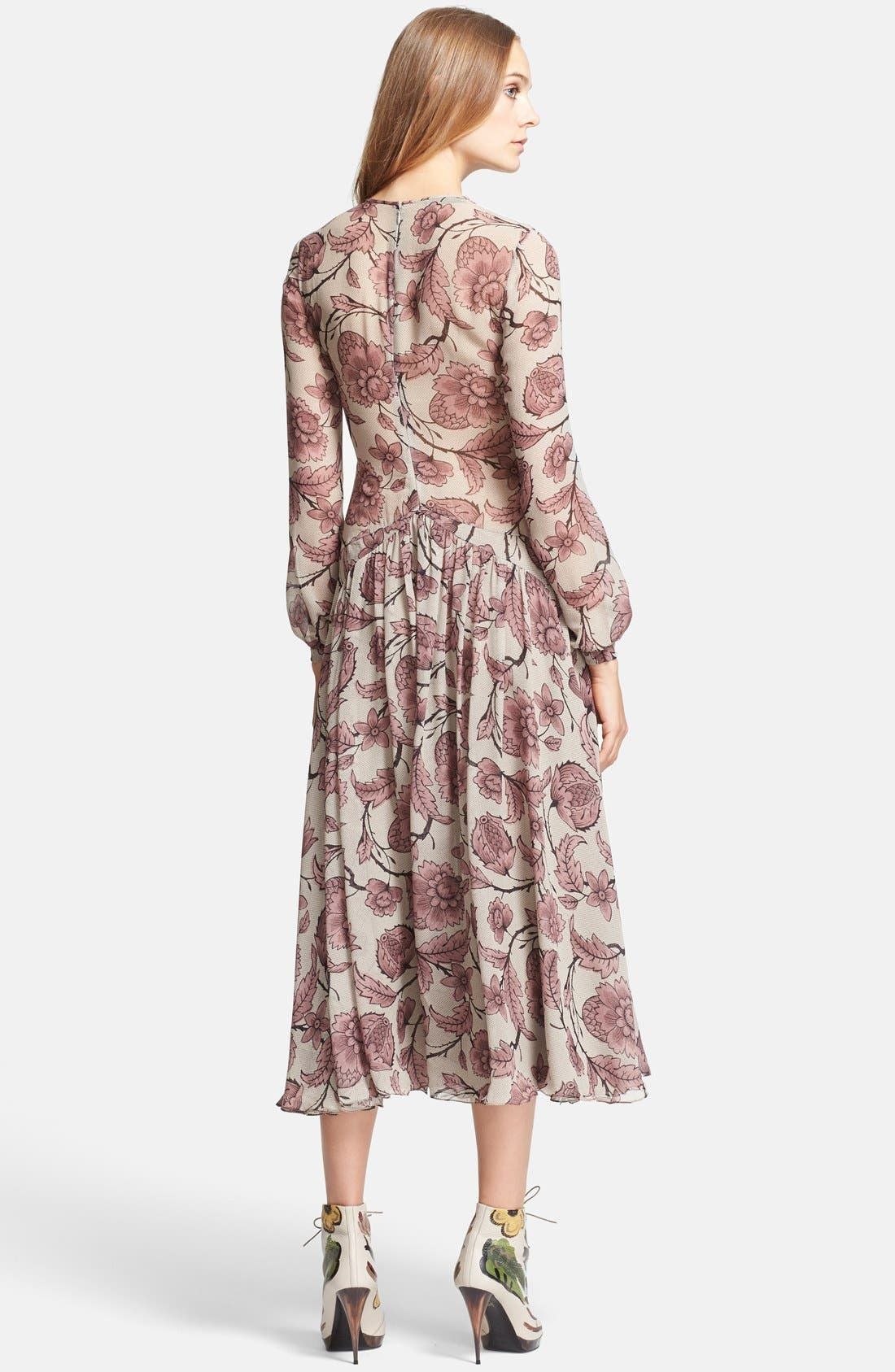 Alternate Image 2  - Burberry Prorsum Washed Silk Midi Dress
