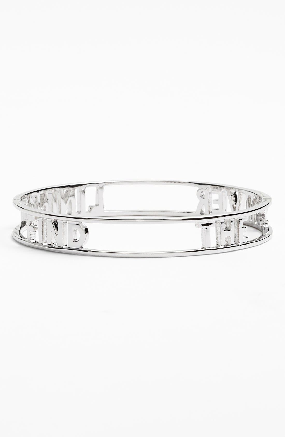 Alternate Image 1 Selected - kate spade new york 'words of wisdom - find the silver lining' bangle