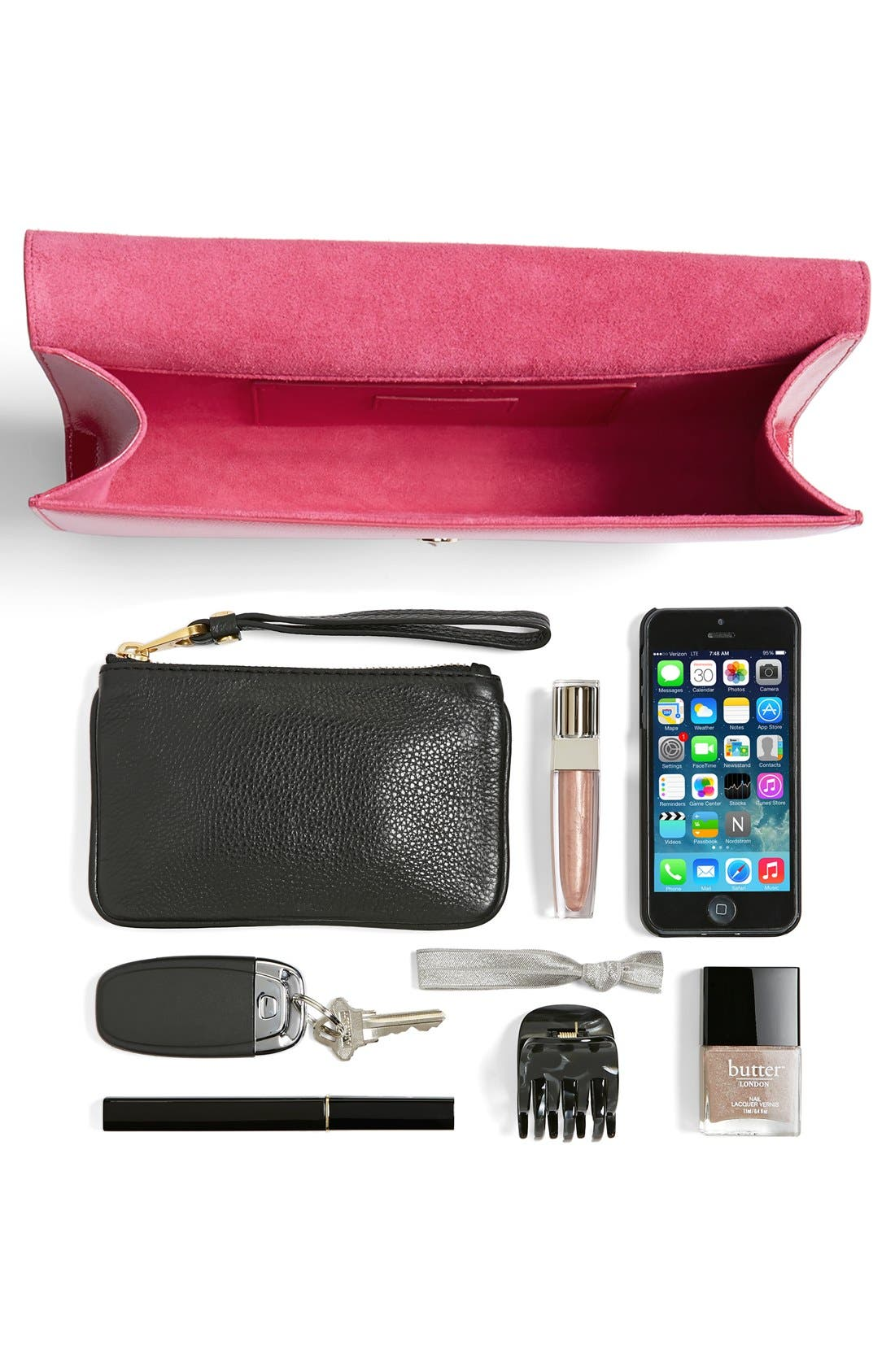 Alternate Image 4  - Saint Laurent 'Cassandre - Vernis' Leather Clutch