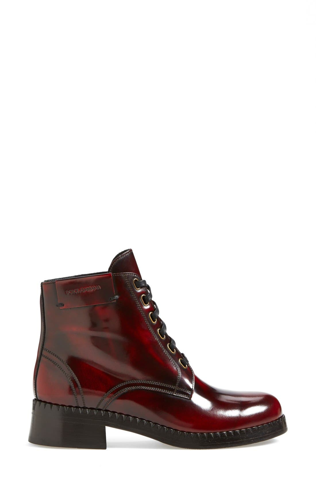 Alternate Image 4  - Dolce&Gabbana Lace-Up Ankle Boot (Women)