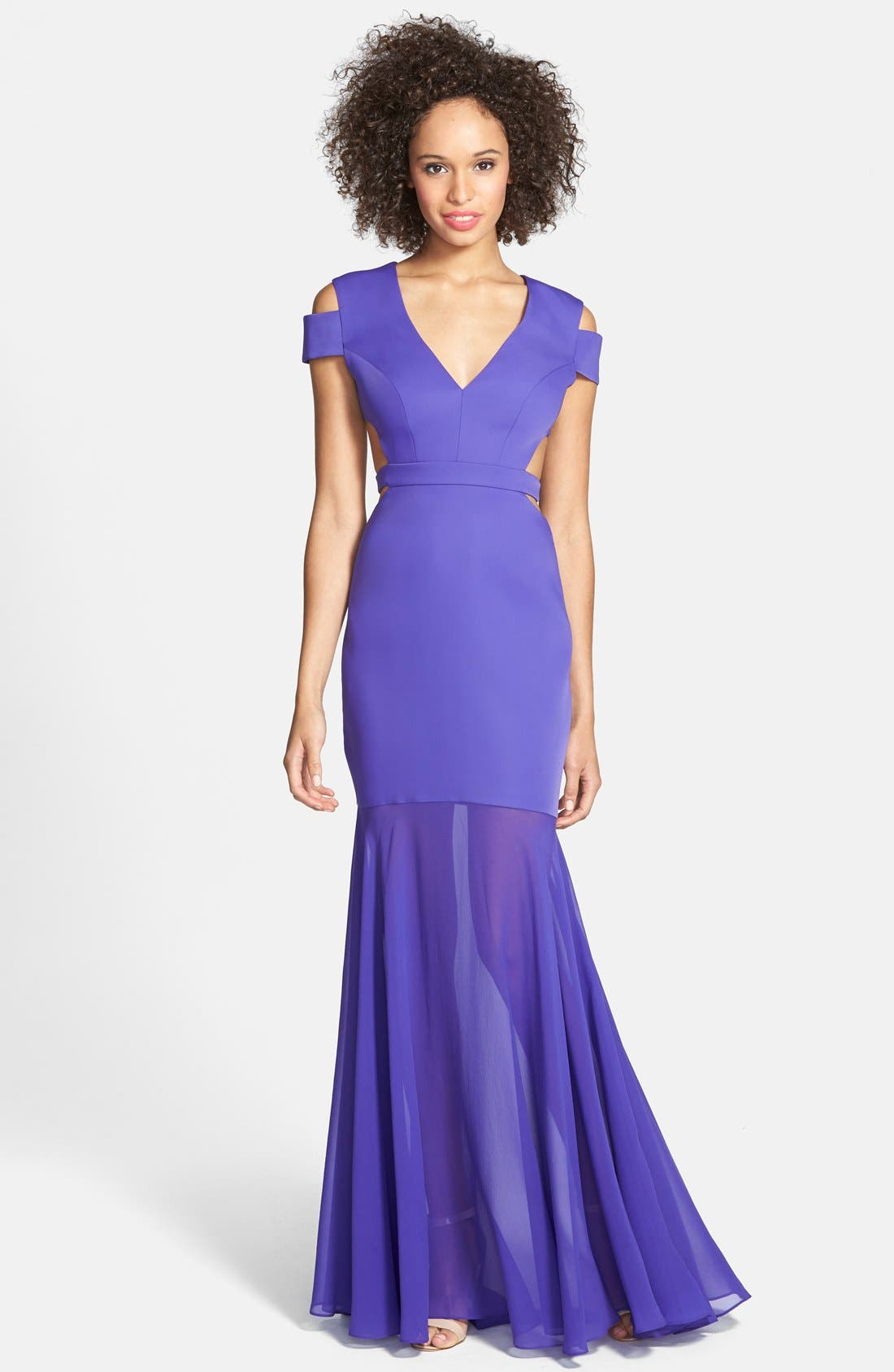 Alternate Image 1 Selected - BCBGMAXAZRIA Cutout Detail Gown